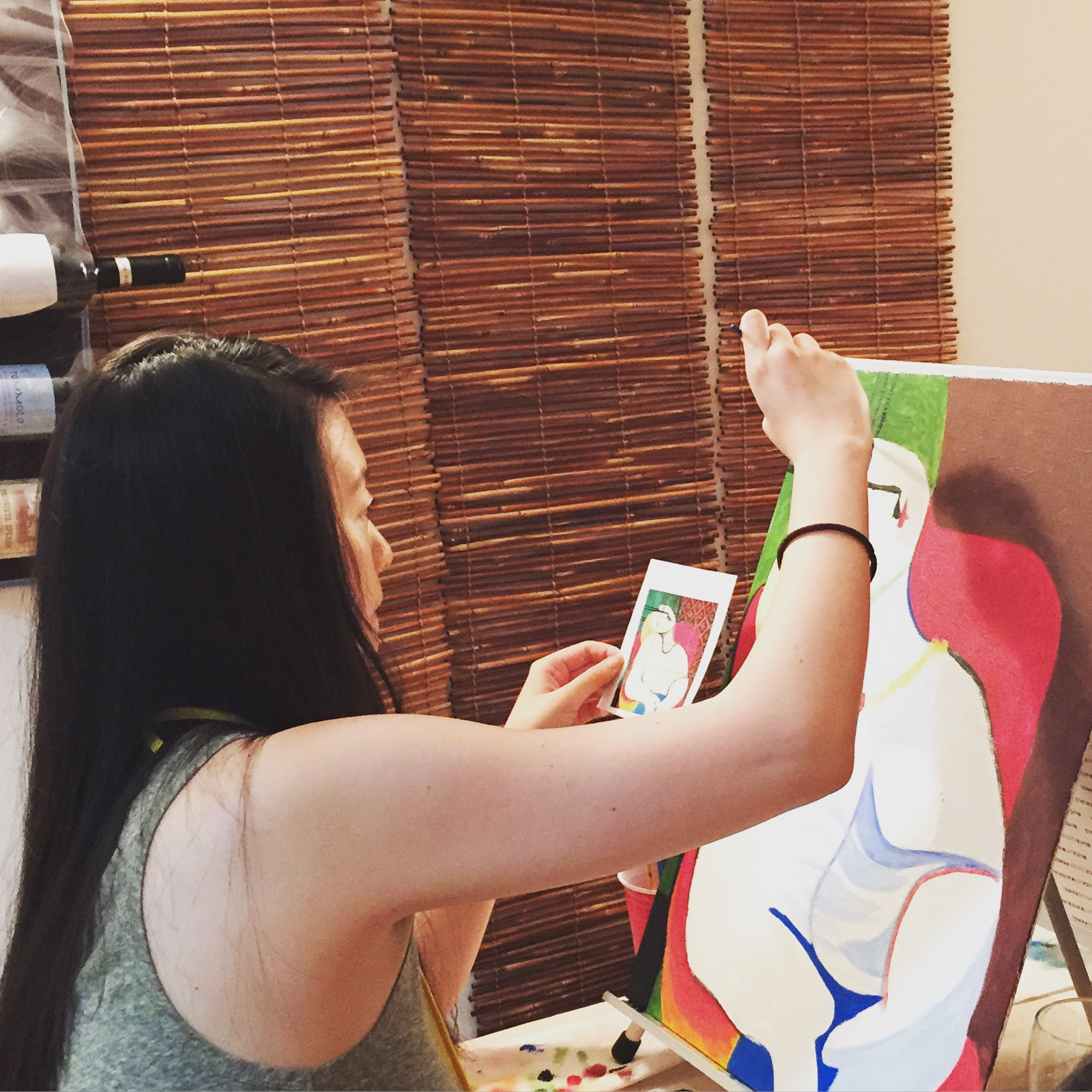 Interpreting Picasso's La Reve at an ART BOX Painting Session