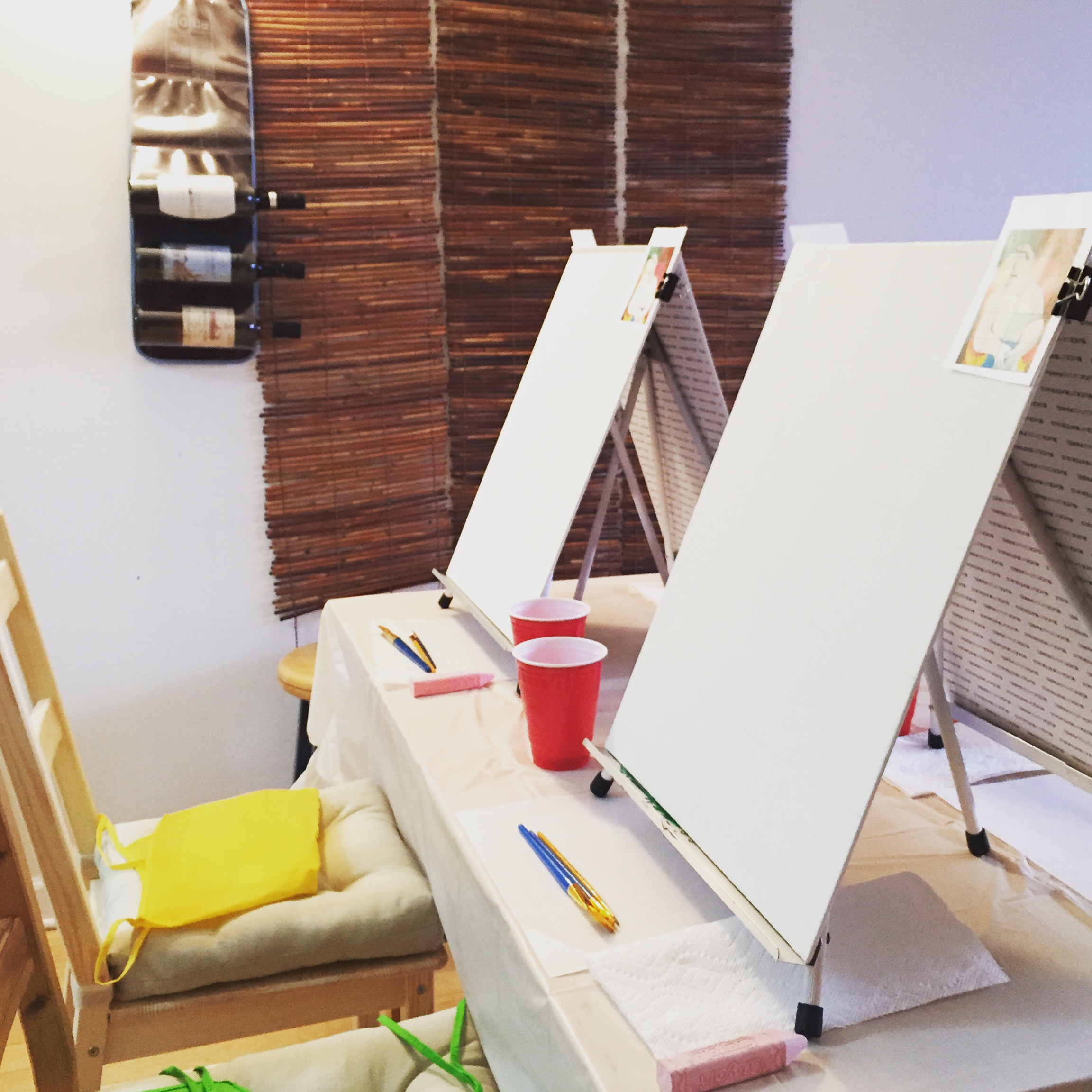 Set Up for in-home ART BOX BYO Painting Session