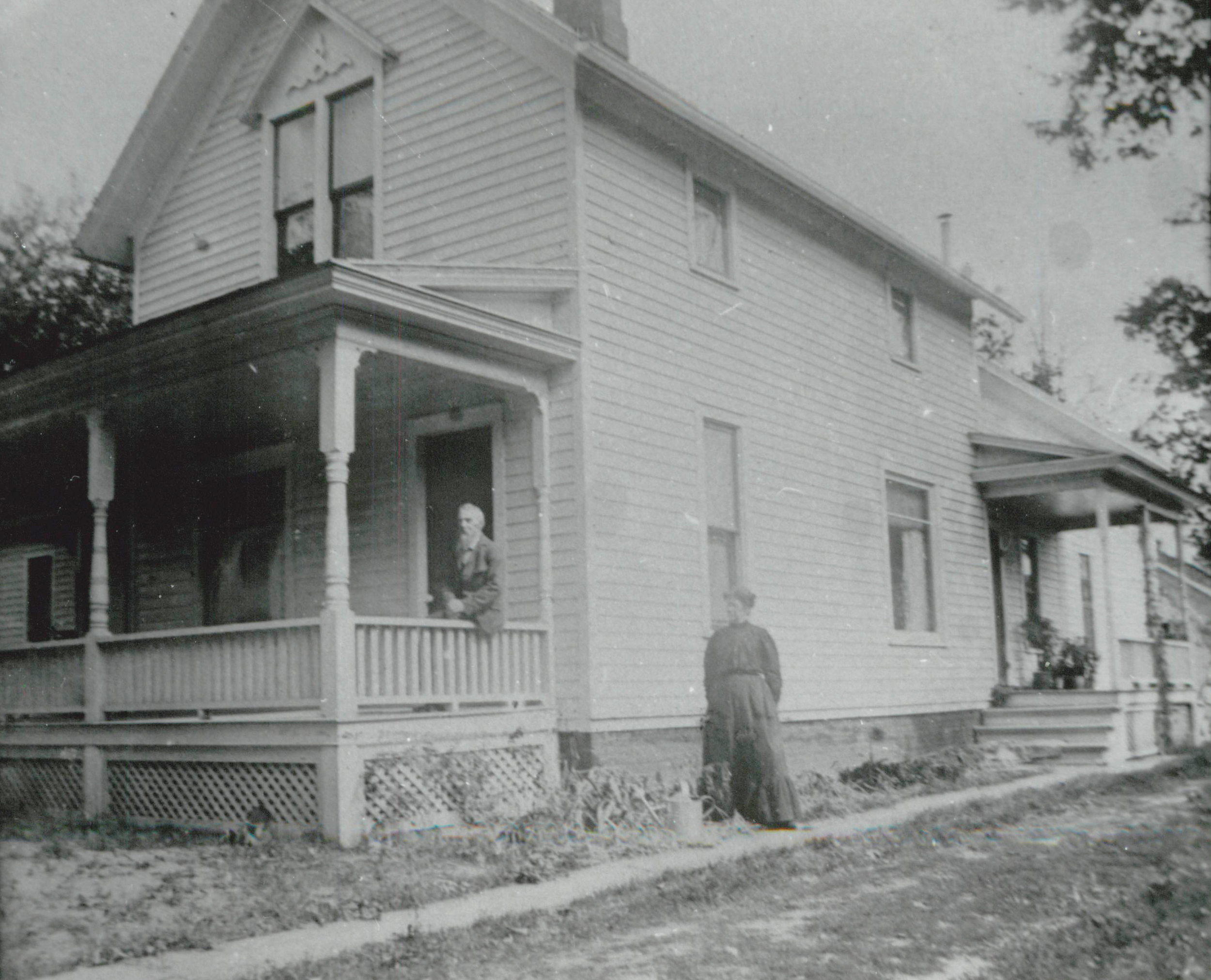 James and Abigail Curwood at their home on John Street (known today as Curwood Castle Drive)