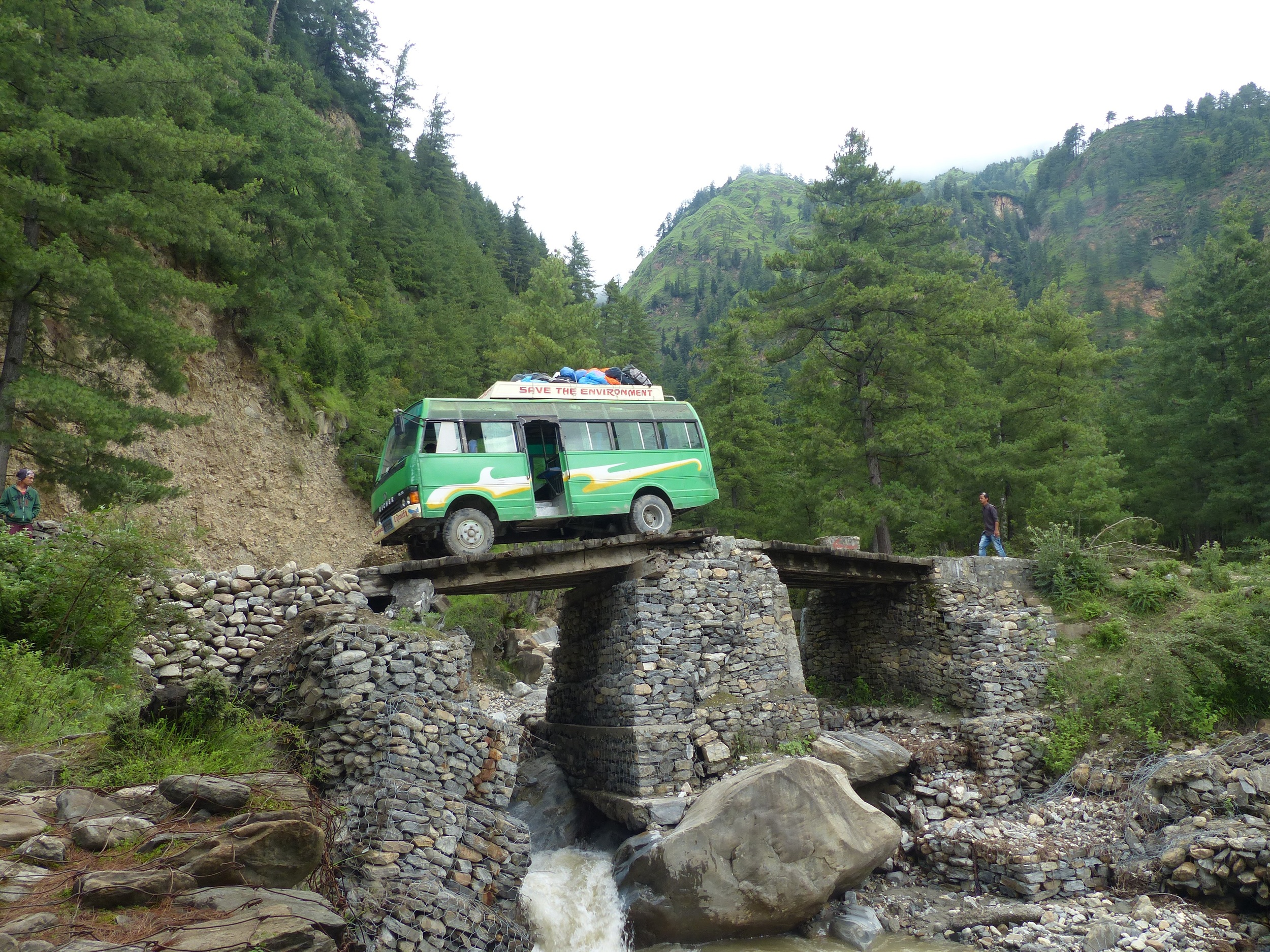 A perilous Monsoon bridge crossing