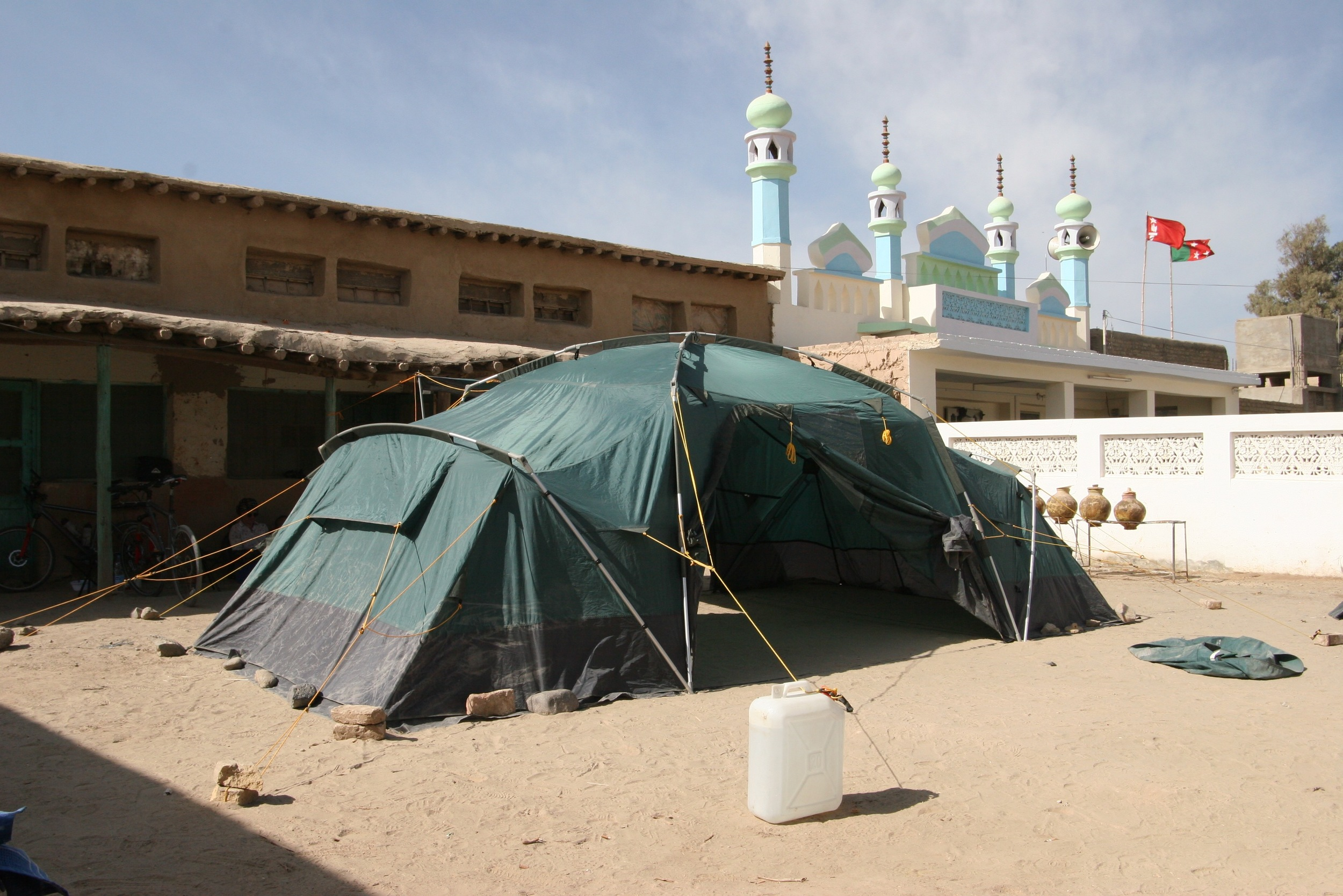 The campsite in Dalbandin customs house