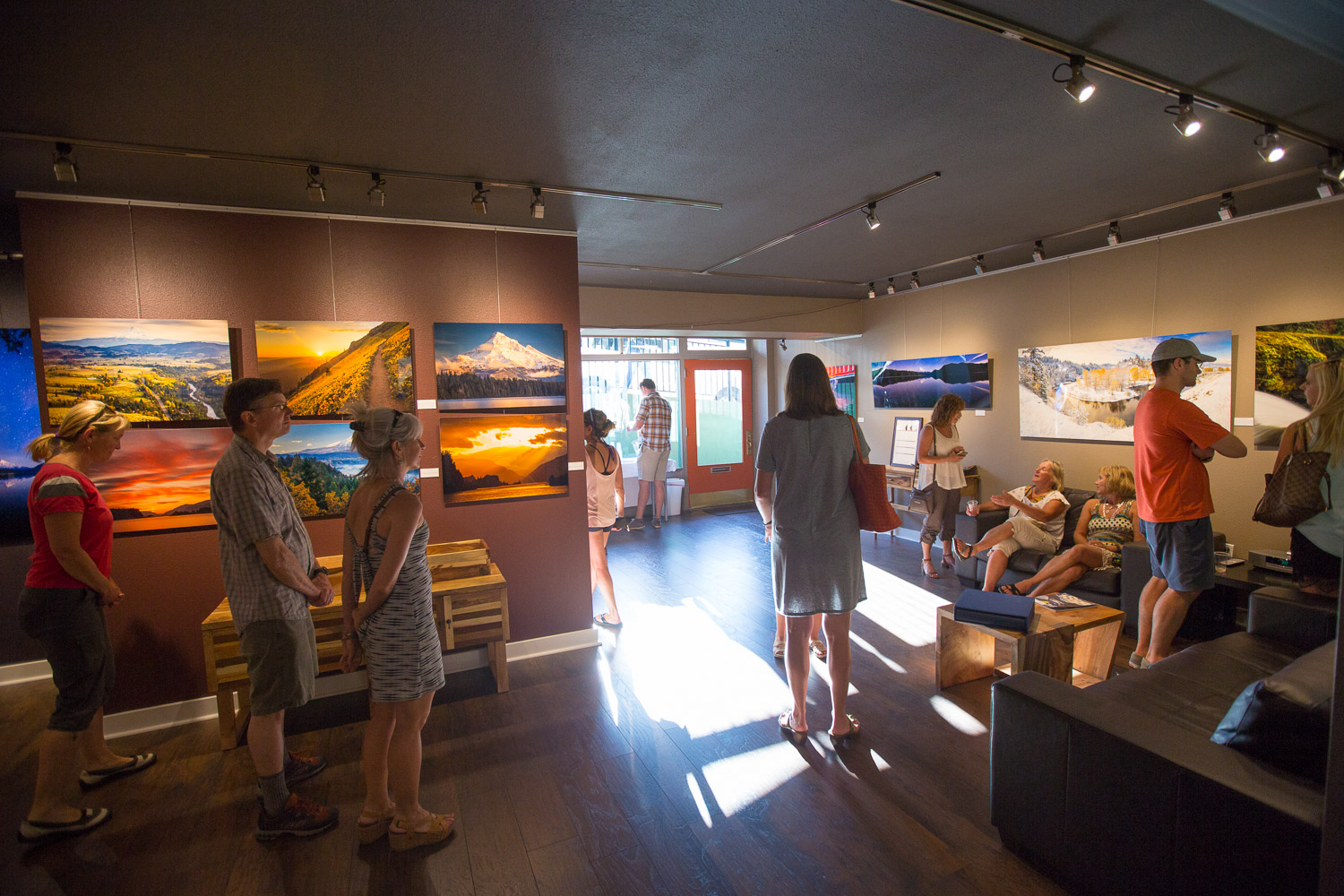 First Friday at  Blaine + Bethany Gallery , downtown Hood River Oregon.