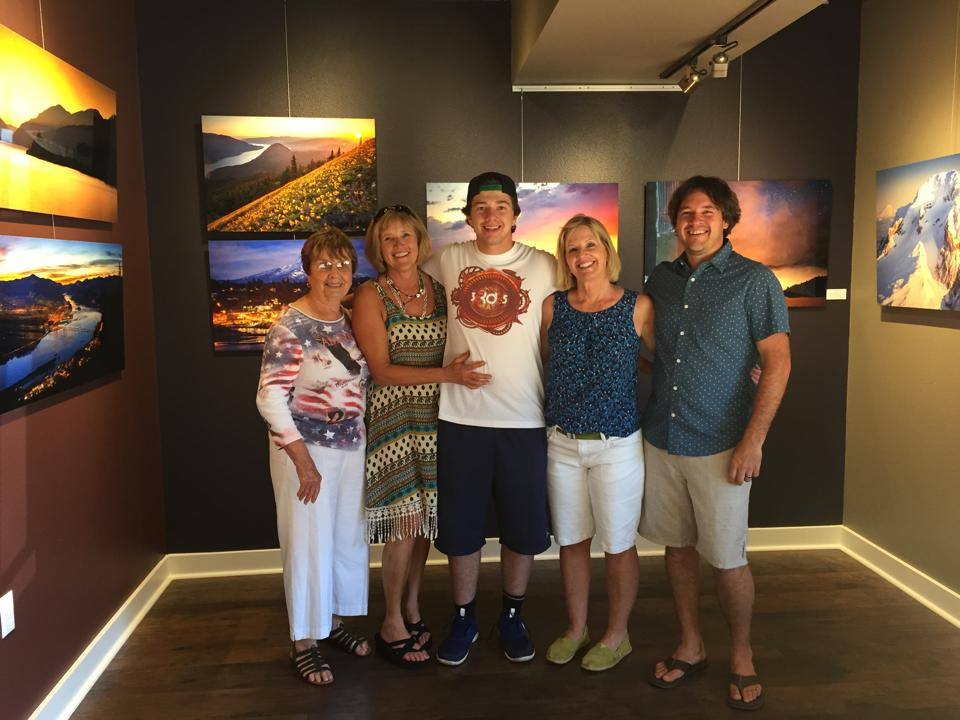 My Grandma (left) was visiting from San Diego and was able to come! We even managed to snap a quick photo with family who were there.