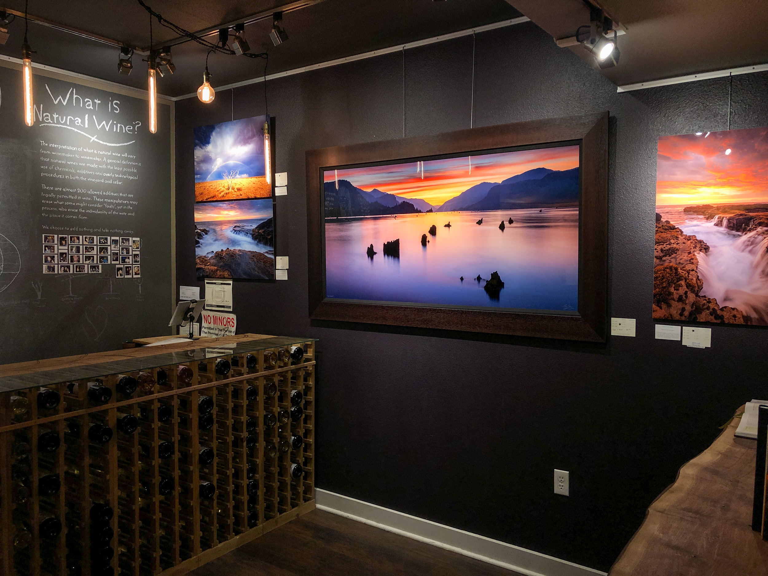 """""""Gorge Goodness"""" 30x60"""" Metal Print framed with a 4"""" Dark Coffee frame, stunning! Come check it out in person at the gallery 😍"""