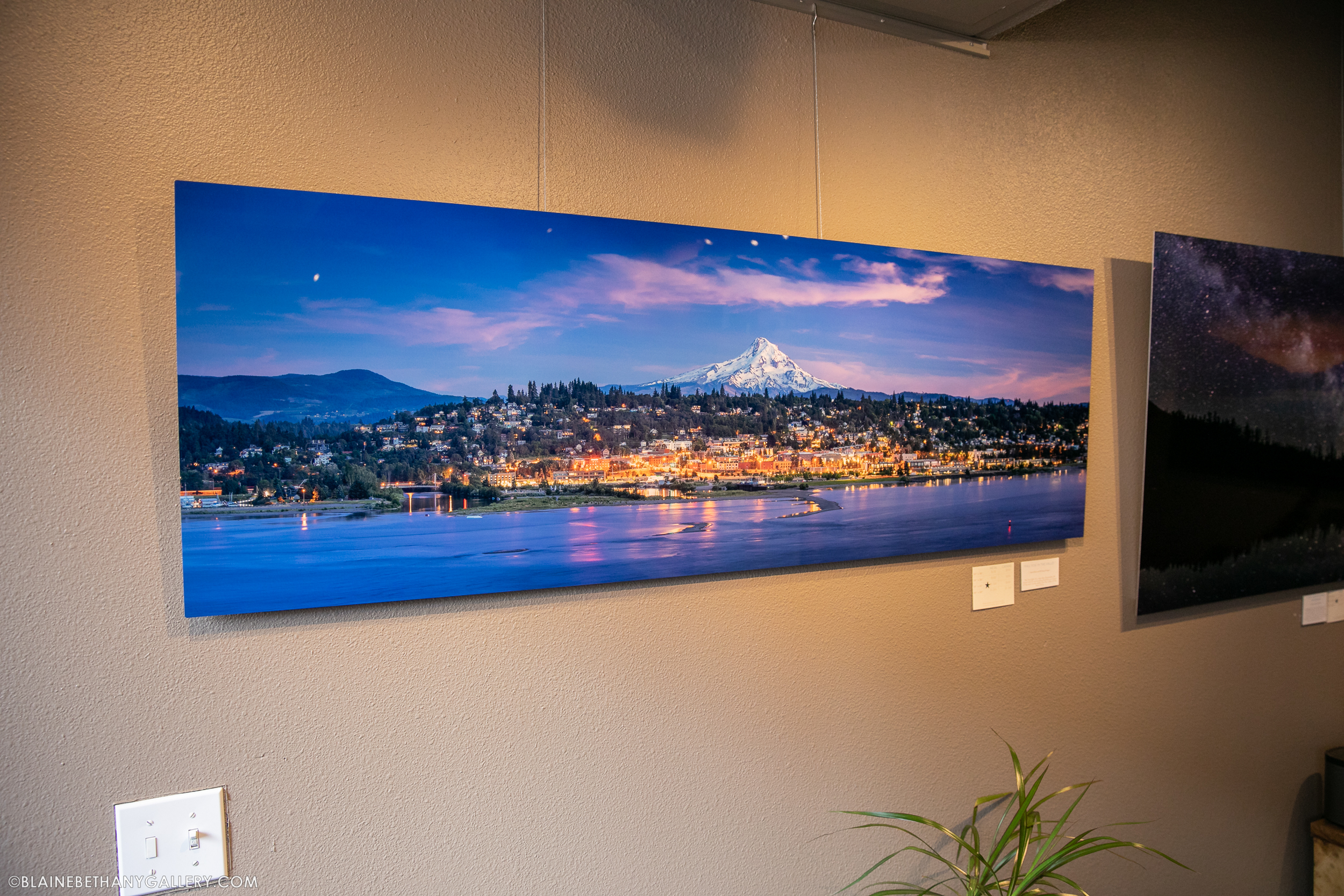 """Small Town Glow - Panorama"" 20x60"" Metal Print"