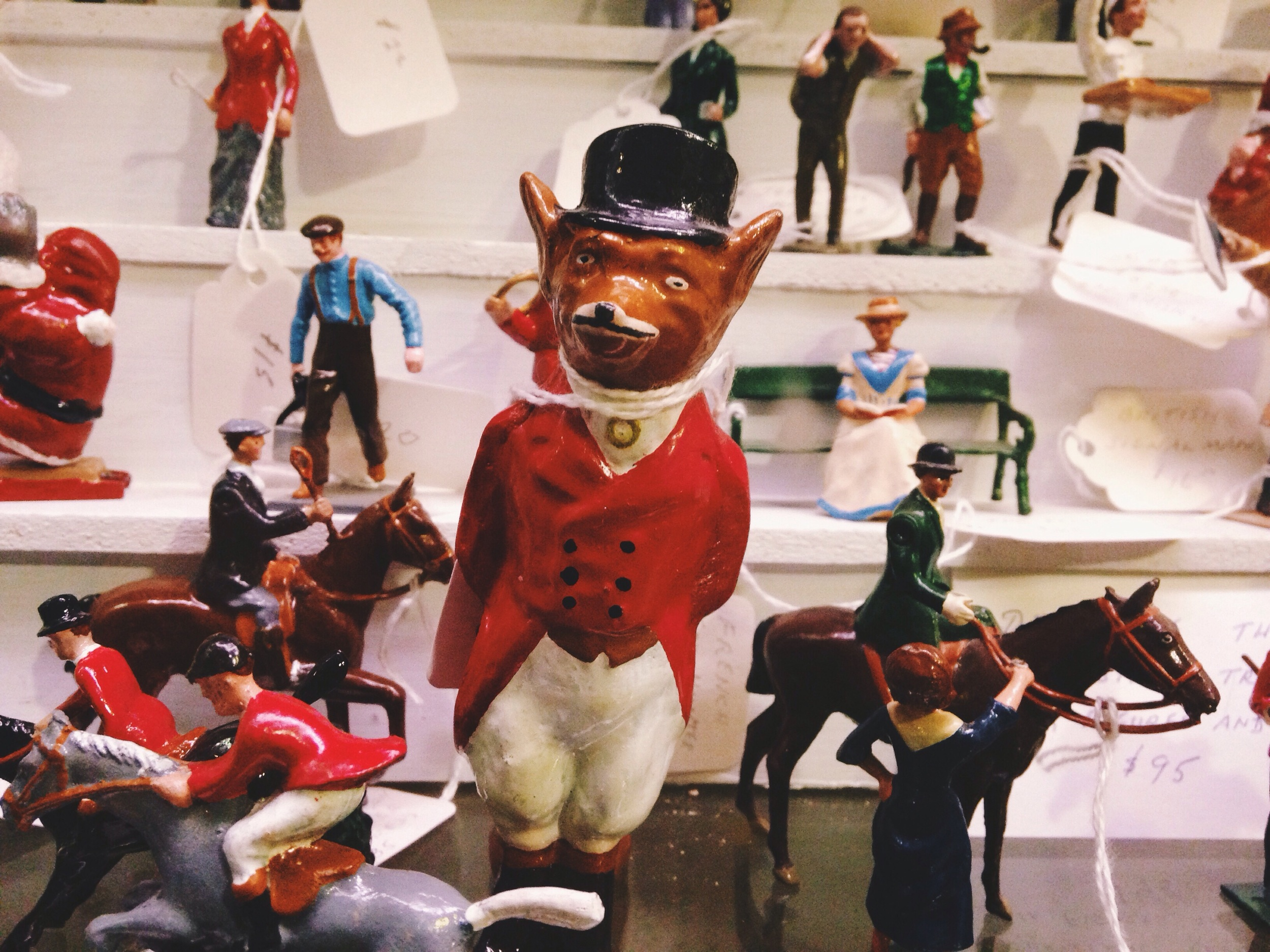 This definitely isn't Christmas related but I love it. It's a fox dressed in a fox hunters outfit- brilliant!