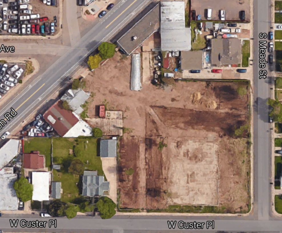 This is more or less where we're at today! A clean blank slate - and you can see the beginnings of an urban farm too.