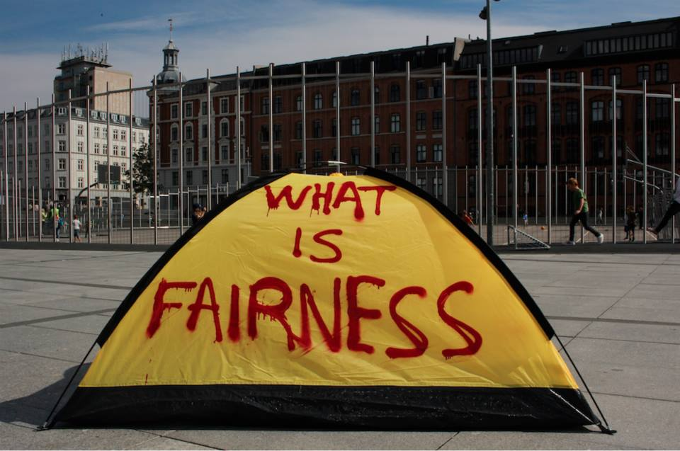 What is fairness,  2015,Spray pain on Tent