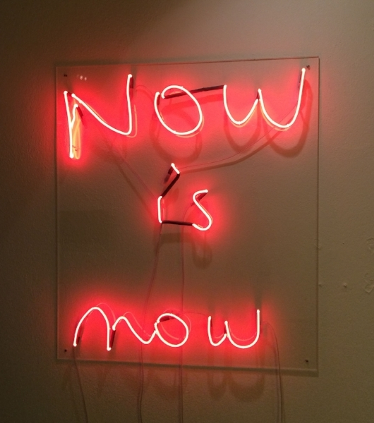 NOW is now ,2016,Color: Clear glass red,Dimensions: 100 cm x 75 cm,Edition: 5 + 2AP