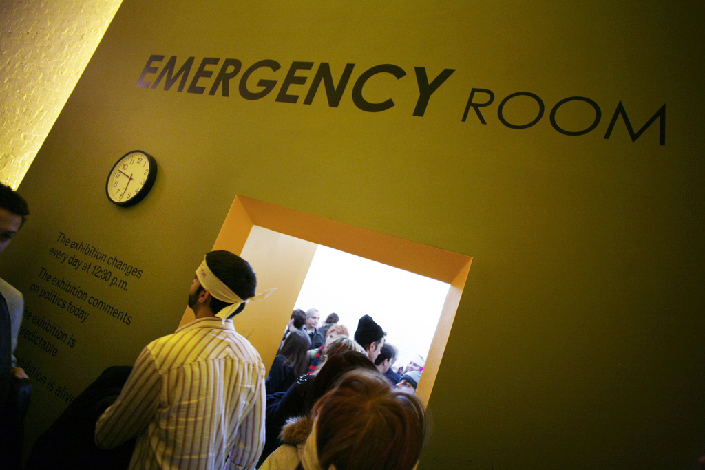 EMERGENCY ROOM, Moma PS1 , 2007.  A daily changing exhibition format developed by Thierry Geoffroy/ COLONEL.  http://www.emergencyrooms.org