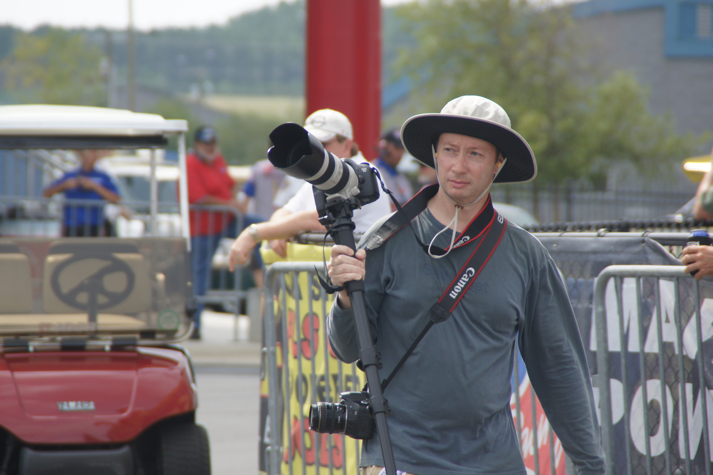 Shooting an NHRA Event