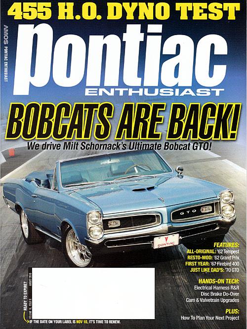 Pontiac Enthusiast - August 2010
