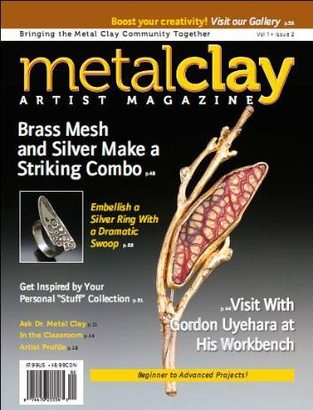 """My article """"Get Inspired by Your Personal """"Stuff"""" Collection"""" appeared in Metal Clay Artist Magazine."""