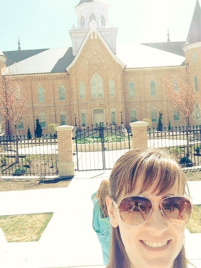 Me in front of the new Provo temple
