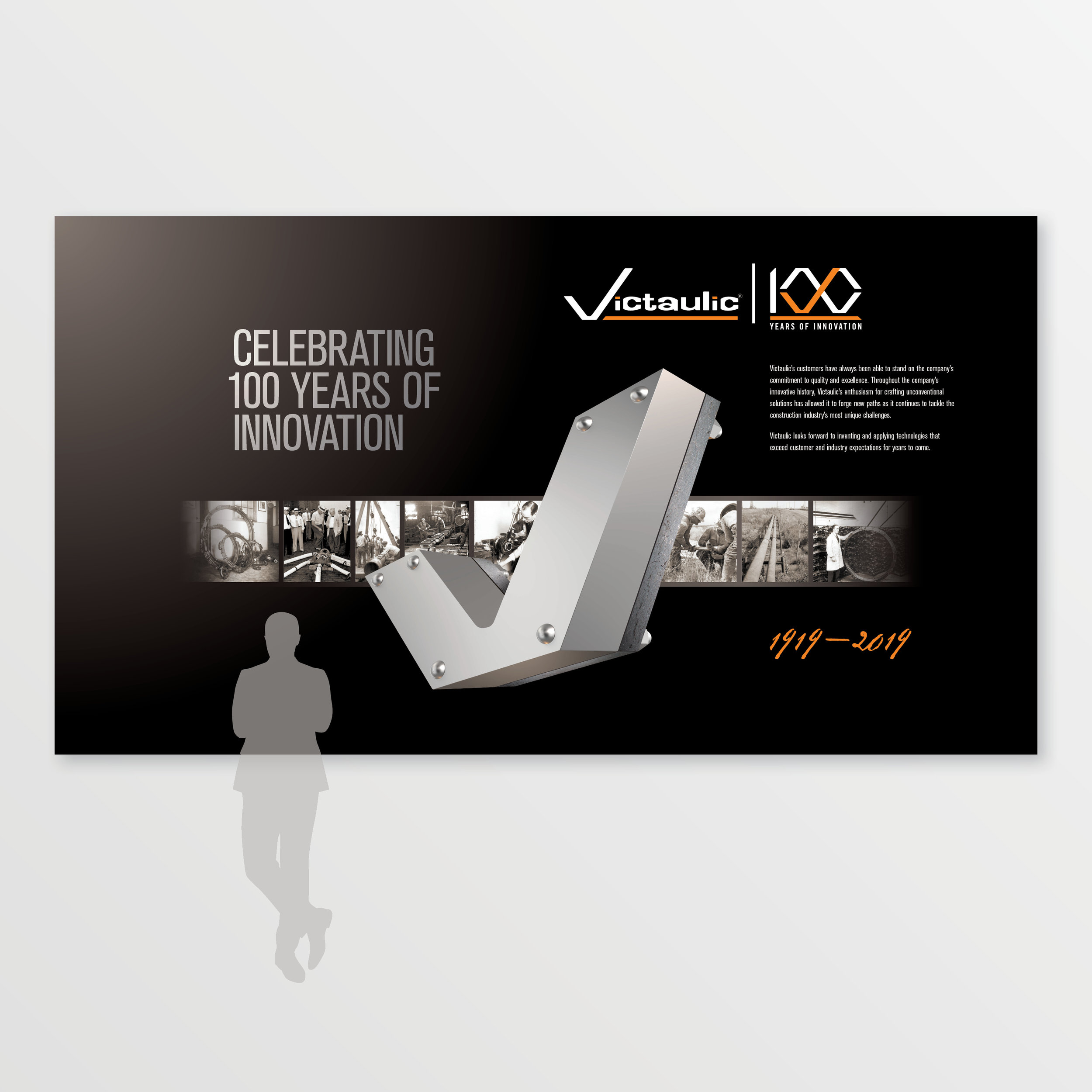 Victaulic | 100th Anniversary Airport Graphics