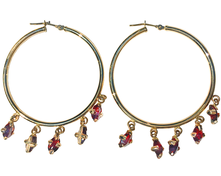 Rubies and 14k gold