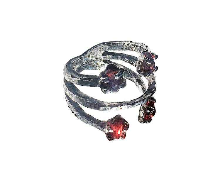 Rubies and sterling silver