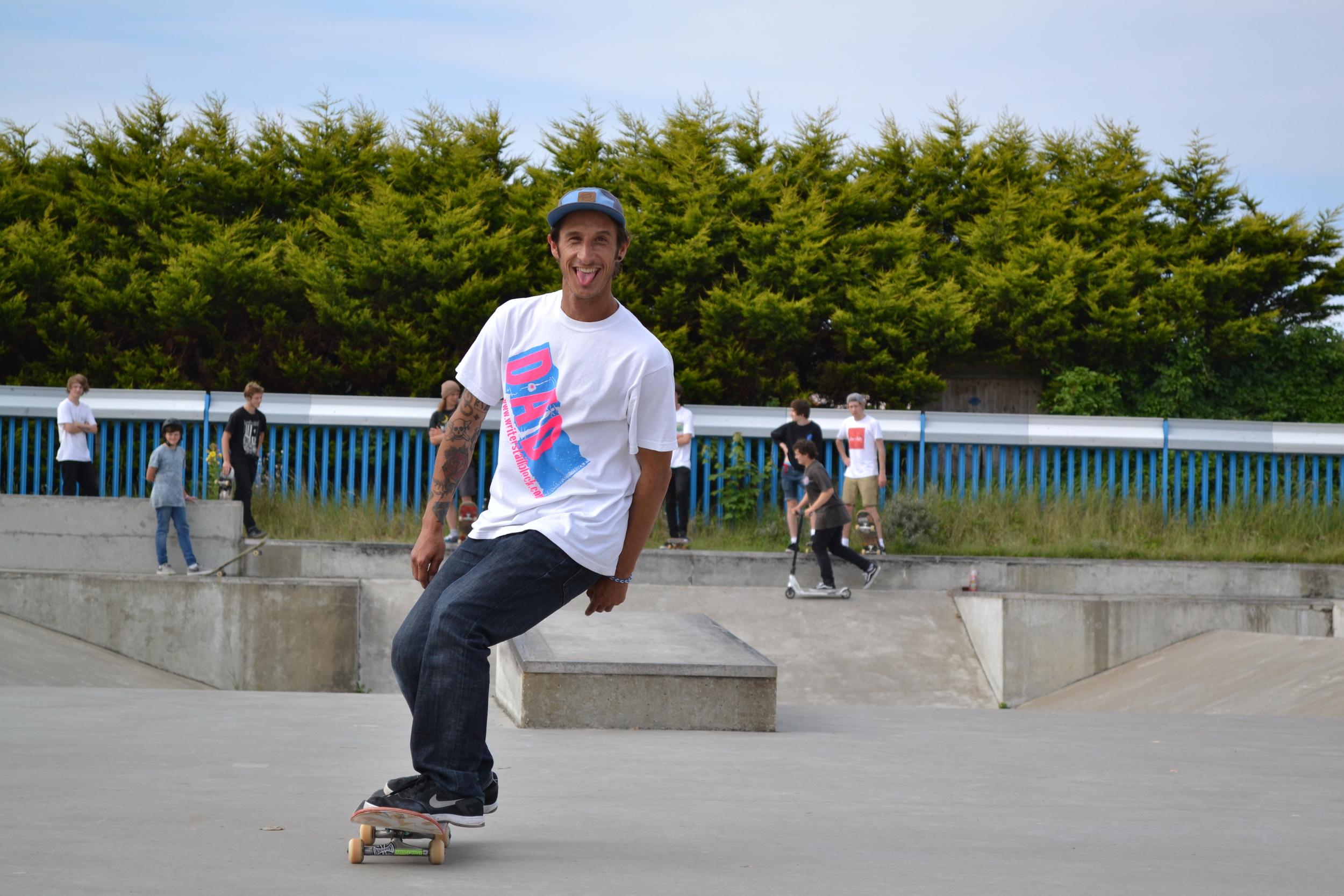 Nick Bray. Skatepark Dad.