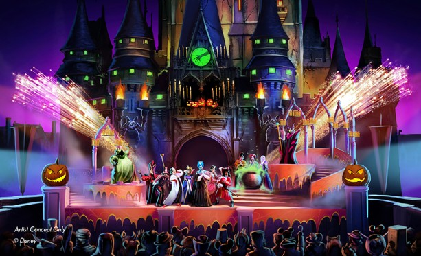 "Picture courtesy of Disney, Artist Rendering of the new ""Hocus Pocus Villain Spectacular"""