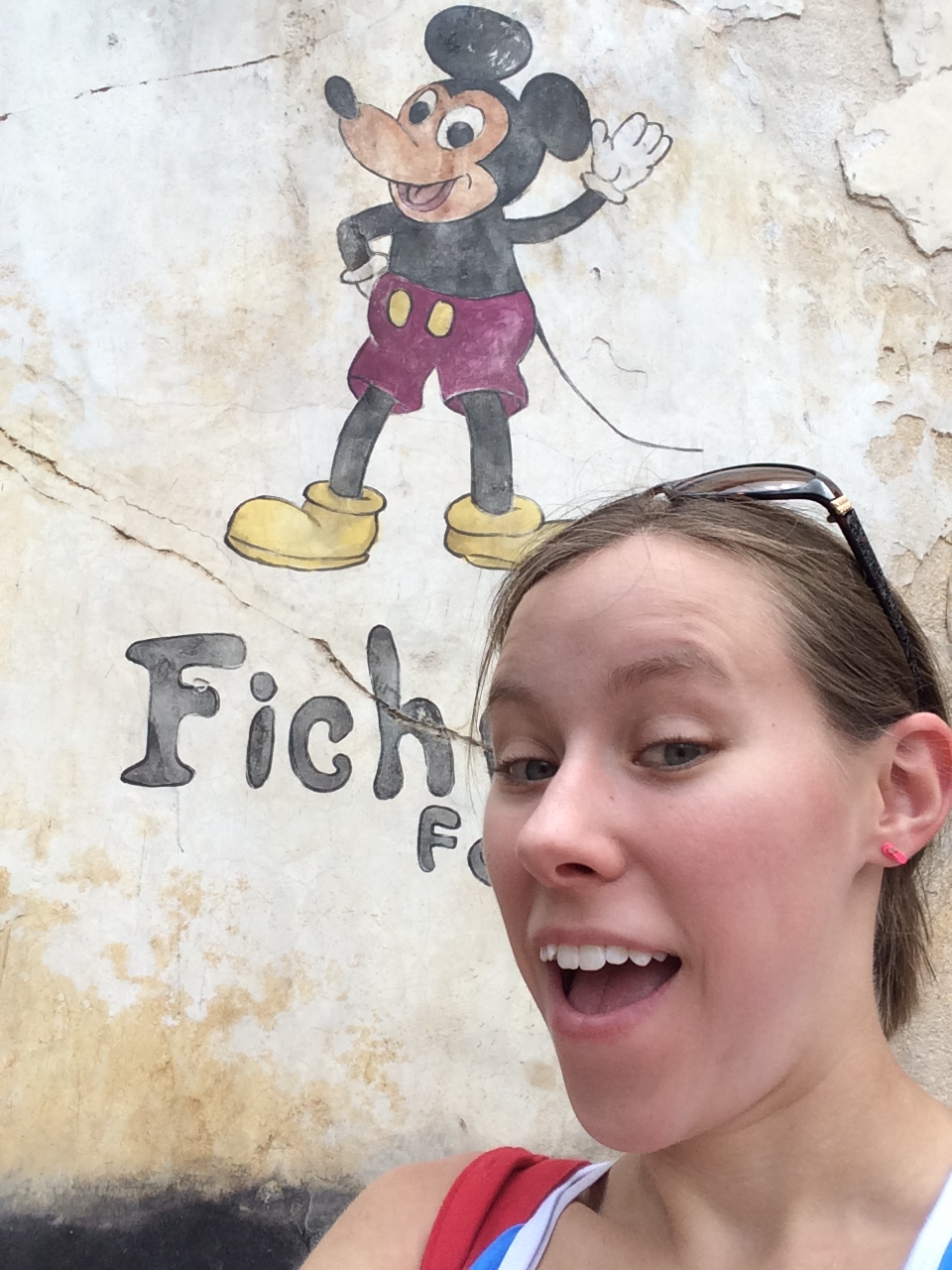 "To end this photo tour, I was able to take a selfie with one of the new ""not-so Hidden Mickeys"" of the Market."