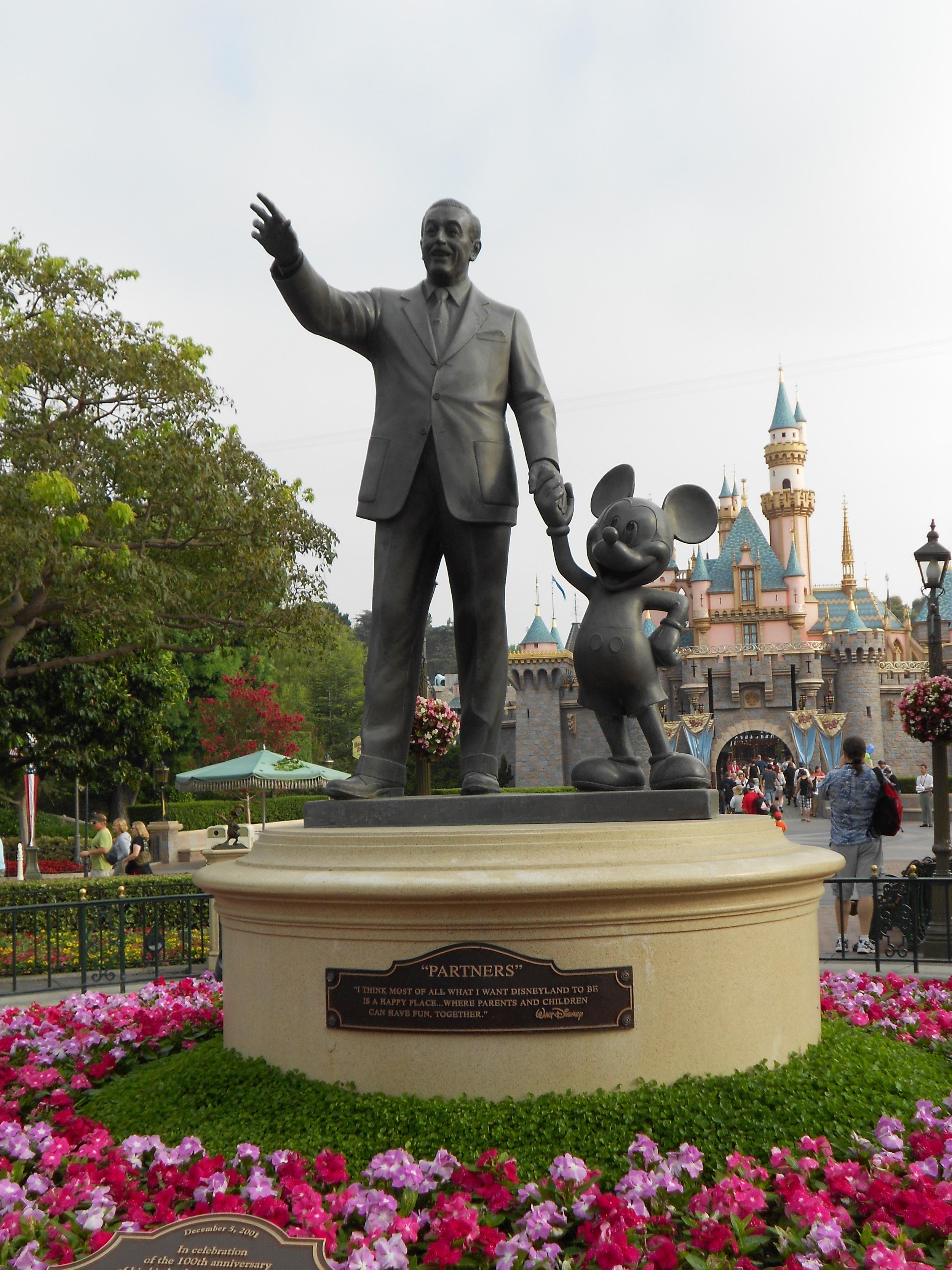 Disneyland Castle and Walt