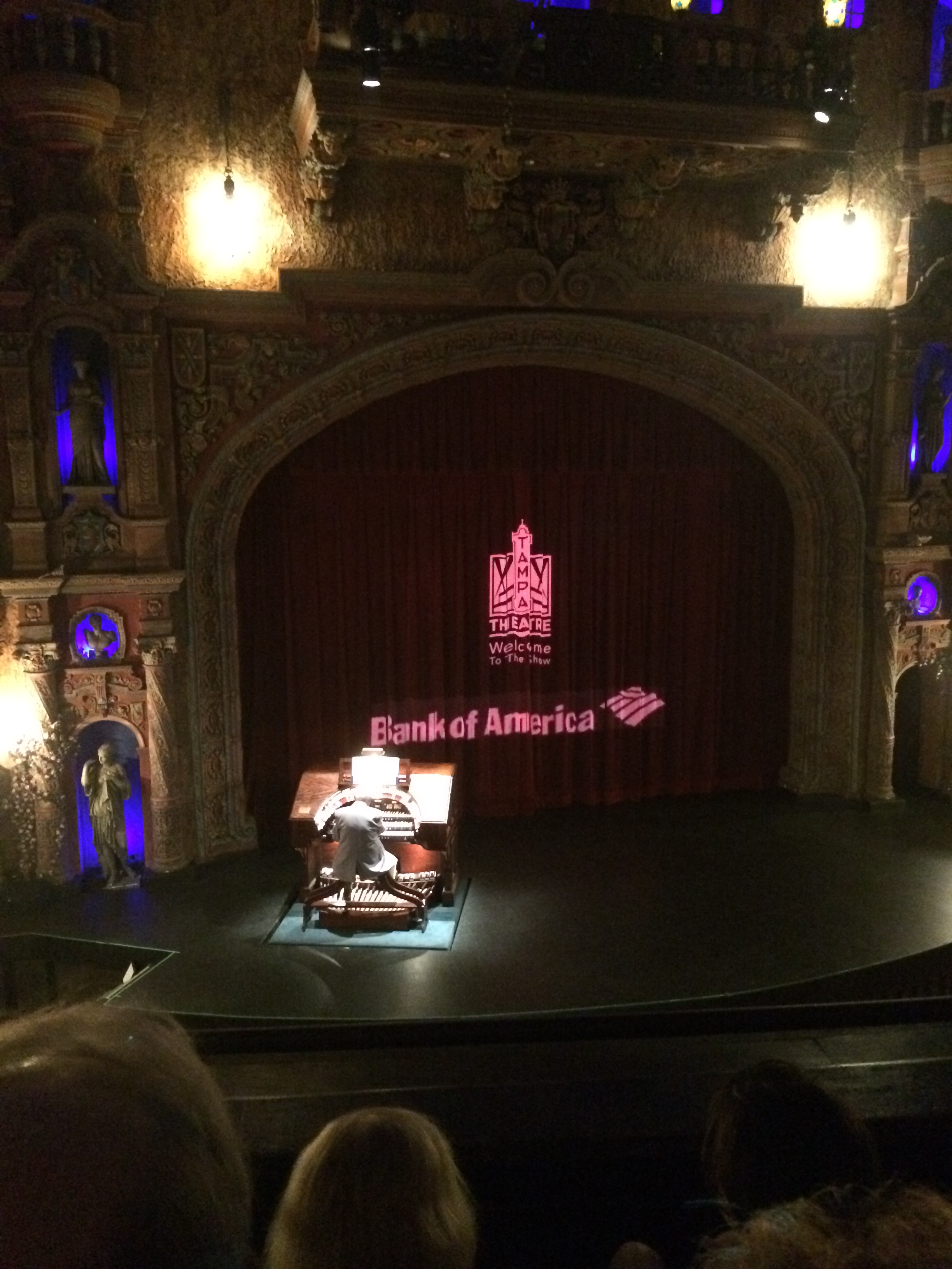 The Organ came right out of the stage!
