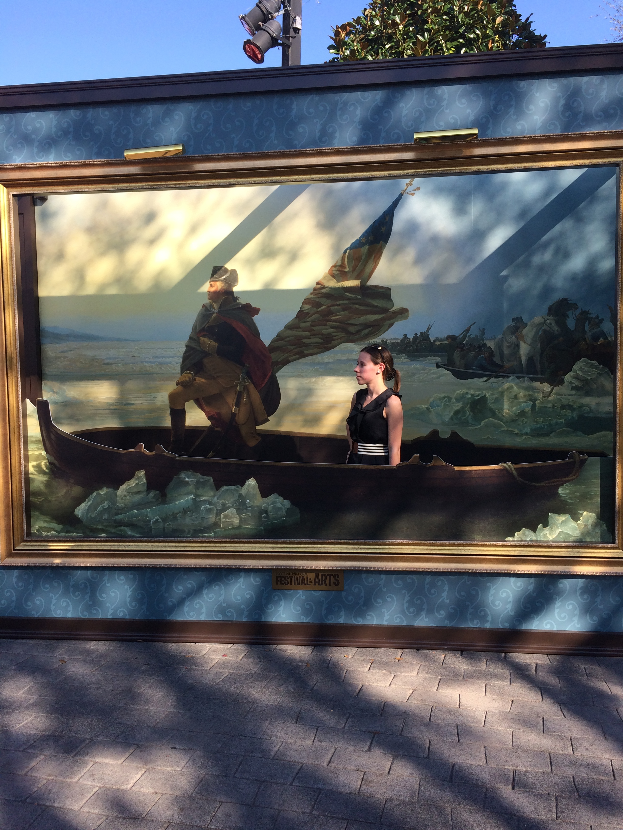 Me riding the Delaware with Washington, which is so cool because I used to live right next to this river!