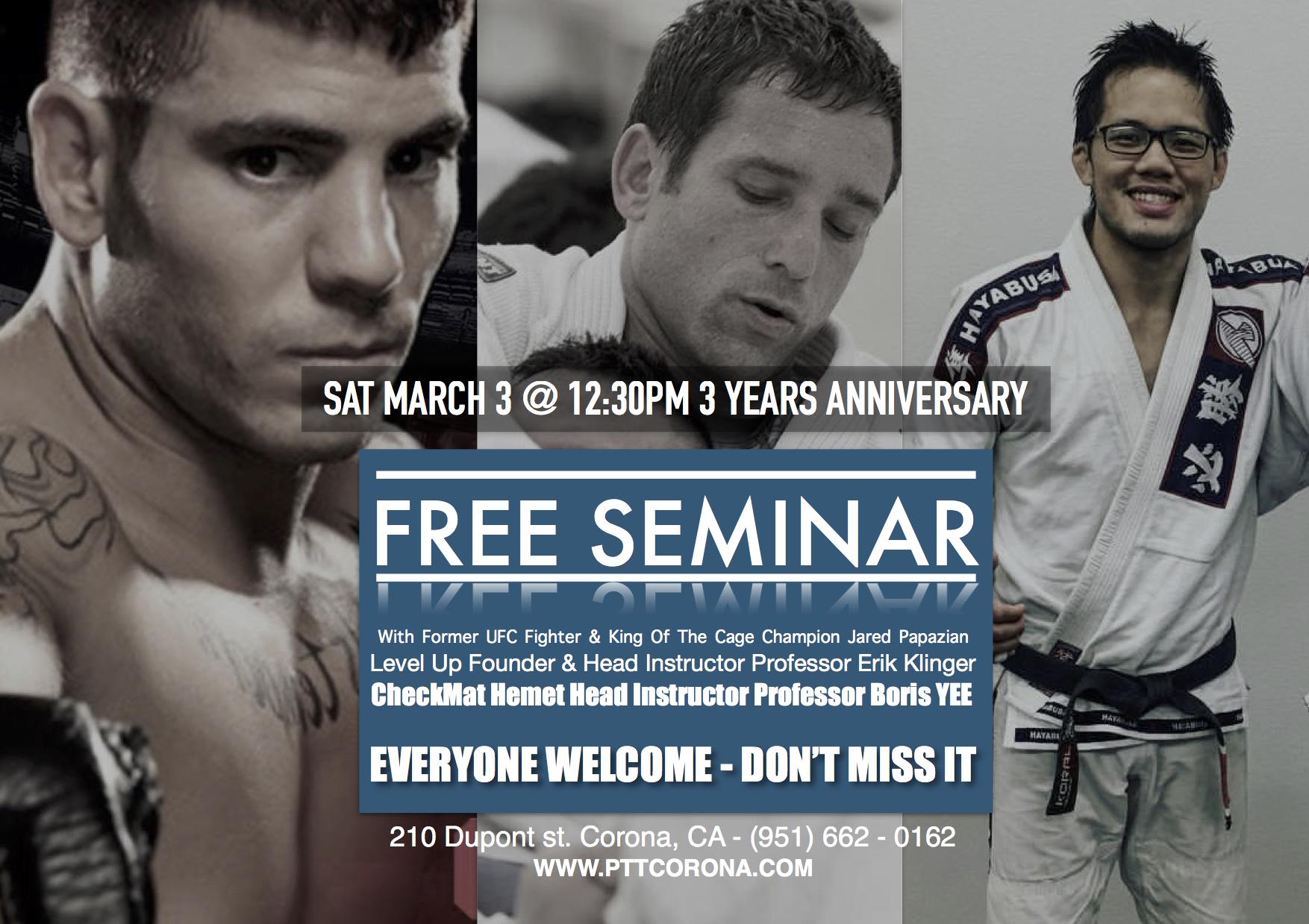 free Brazilian jiu jitsu seminar in corona