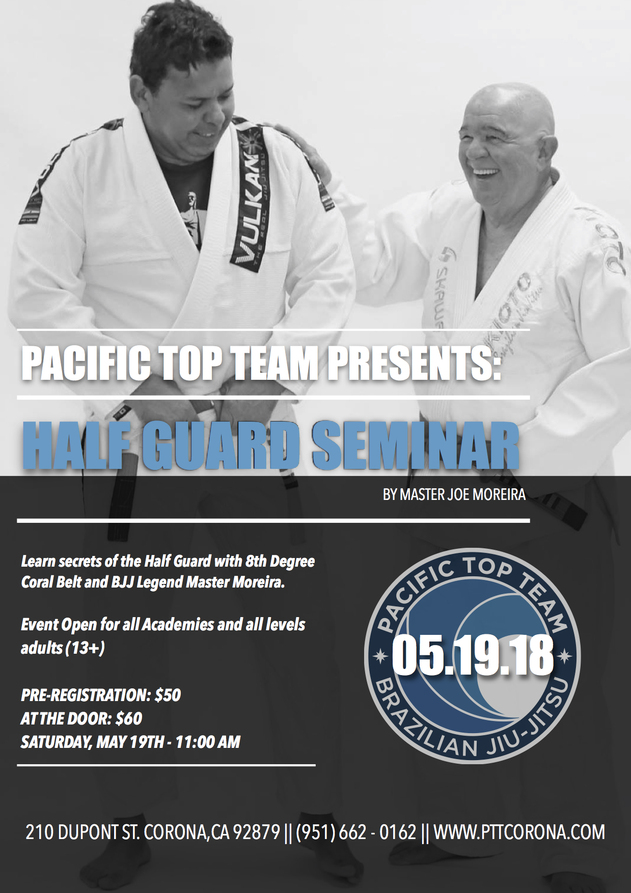 Brazilian Jiu Jitsu Half Guard Seminar with Master Joe Moreira