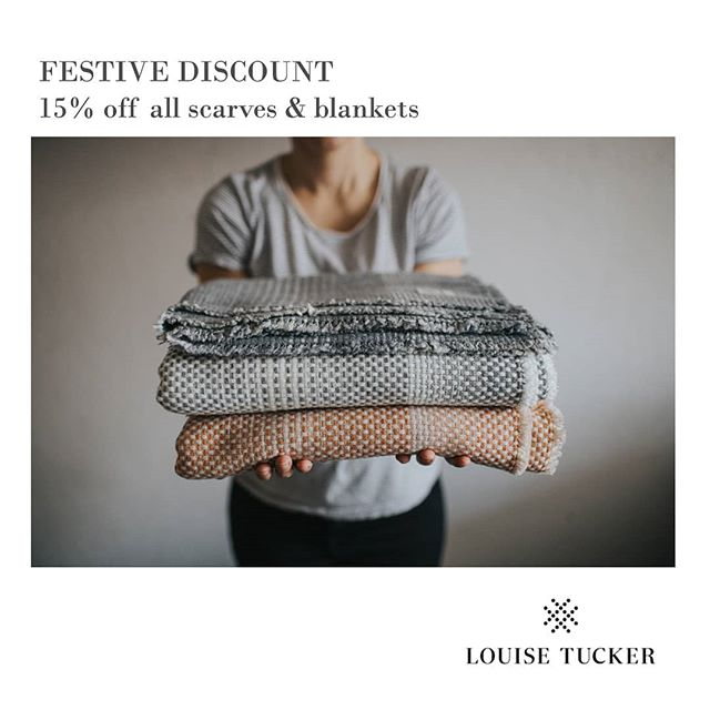 Since my Christmas wreath workshop last weekend I have been feeling super festive. So to spread some cheer I have decided to offer a festive discount on all my woven textiles products on my online shop. . So if you are looking for a last minute gift or just want to get snug under a cosy woollen blanket then use discount code CHEER15 at the check for 15% off. . . #interiordecor #textiles #craft #naturalmaterials #weaver #maker #interiorstyling #makerstory #madeinuk #madeinwales #interiors #madewithcare #getsnug #getcosy #festivediscount #choosewool #wool