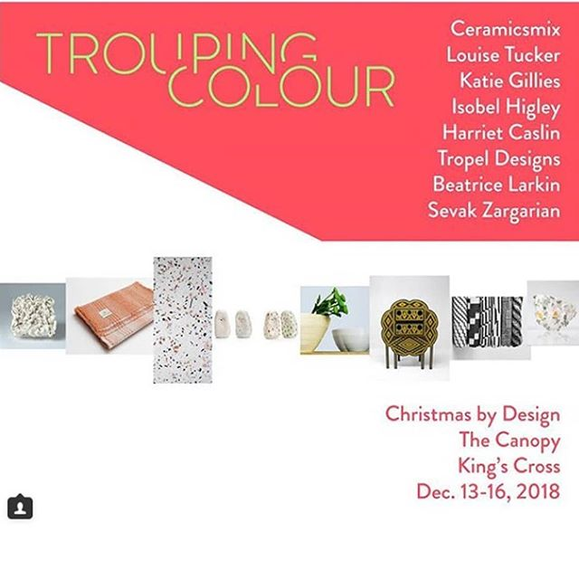 If you are in London and are needing some inspiration for some cool design gifts then head to Christmas by Design at the Canopy Market as part of the relaunch of the Coal Drops Yard in King's Cross.  My scarves and blankets will be on show with the amazing @troupingcolour who have put together a stall of awesome makers. Head over for awesome gifts and design talks from the Design Museum. . . @isobelhigley  @ktgillies_surfacedesign  @tropeldesigns  @ceramicsmix  @harrietcaslin  @beatricelarkin  @sevakzargarian  @anajpdesign  @studio9191  #craft #design #madeinuk #christmasbydesign #designermaker #interiors #madewithcare #giftideas