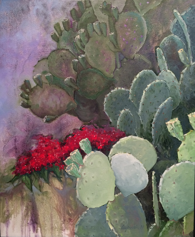 Cactus and Flowers