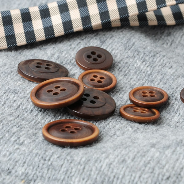 Option of Horn or Corozo Buttons