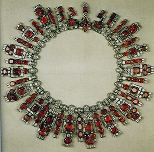 Ruby, diamond, platinum necklace, Cartier, Paris, 1922