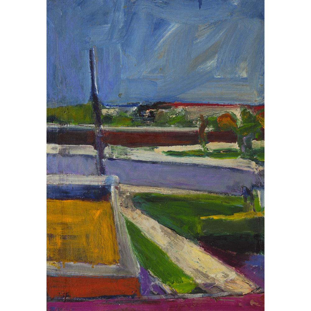 """Untitled Landscape"" by Richard Diebenkorn, oil painting, 1957"