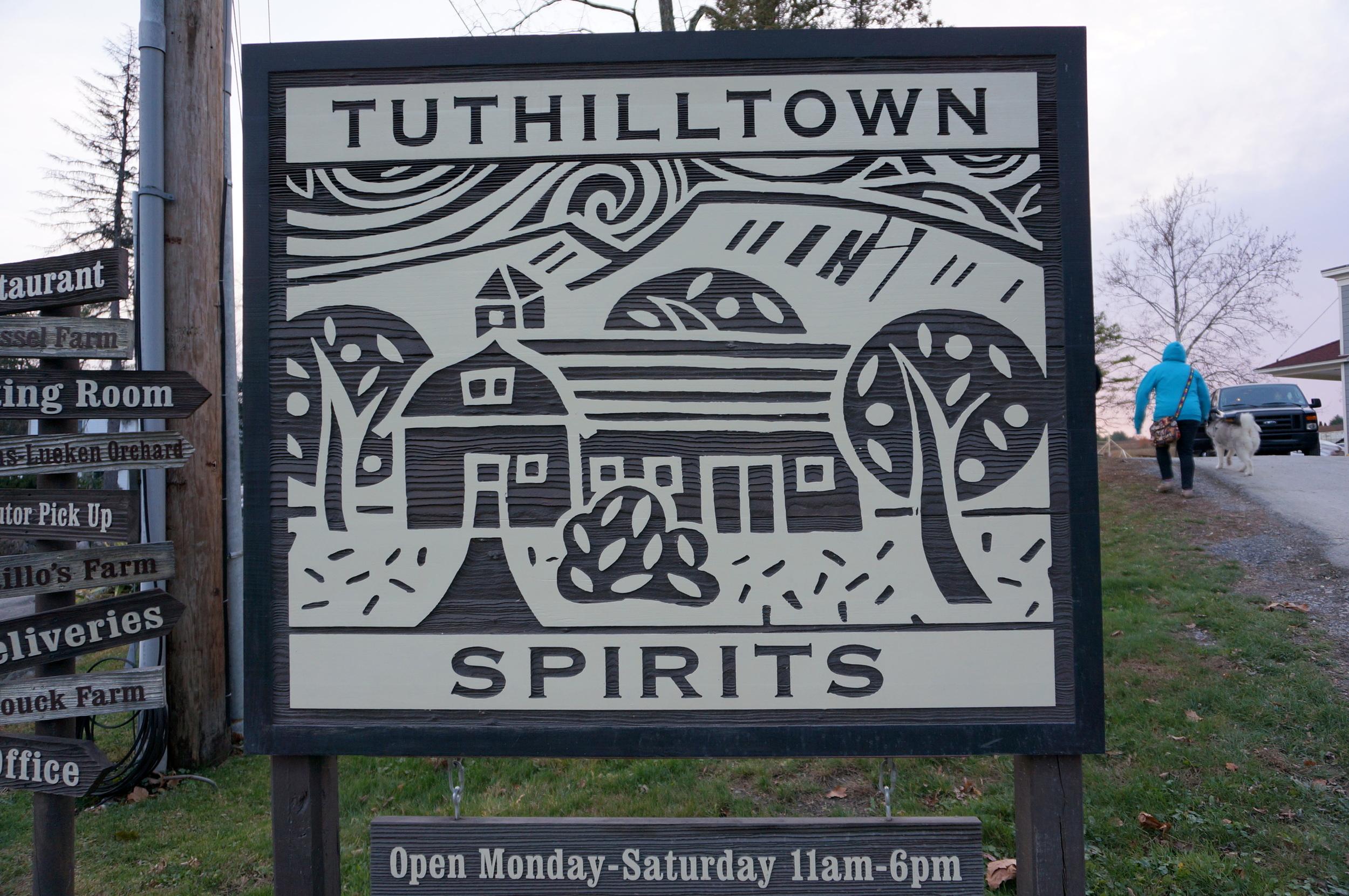 Tuthillton Spirits Sign
