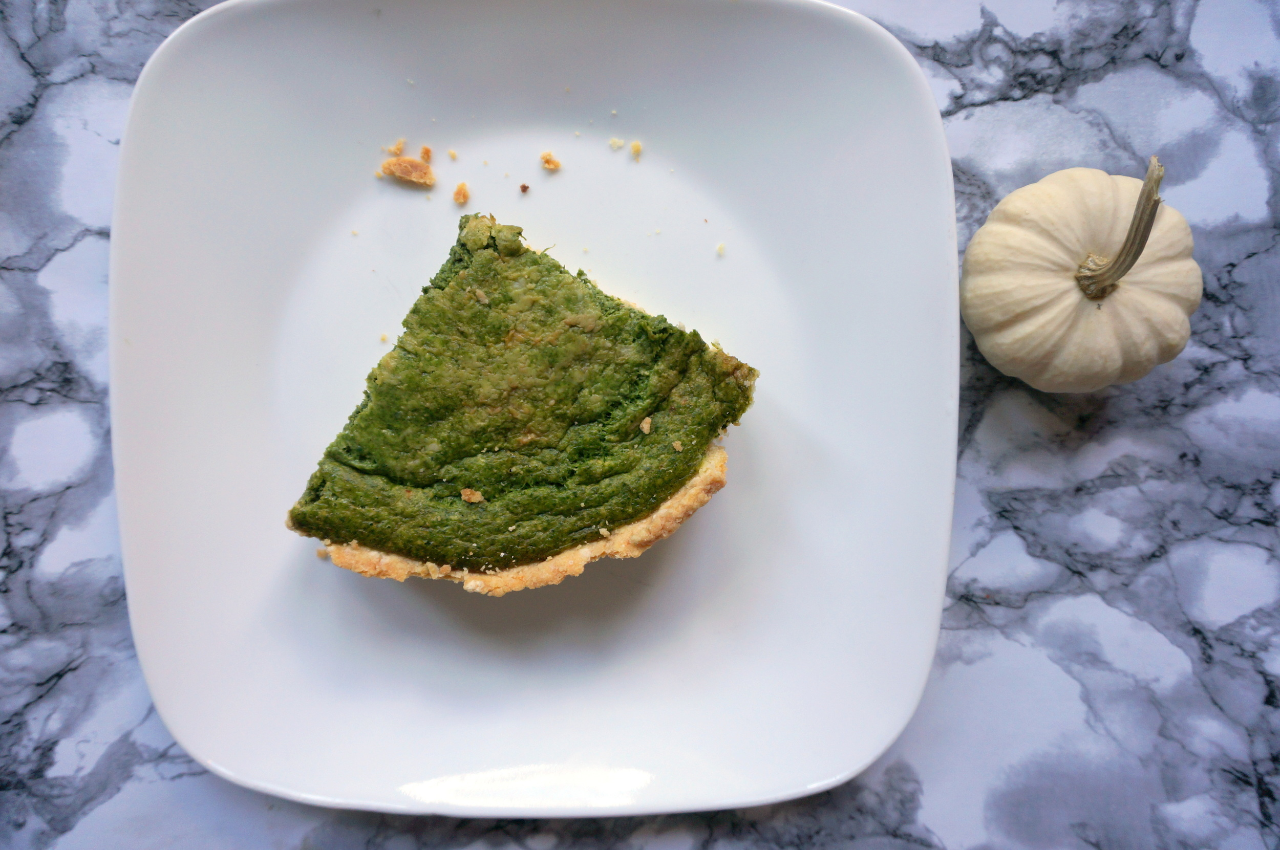 Smoked Gouda and Spinach Quiche