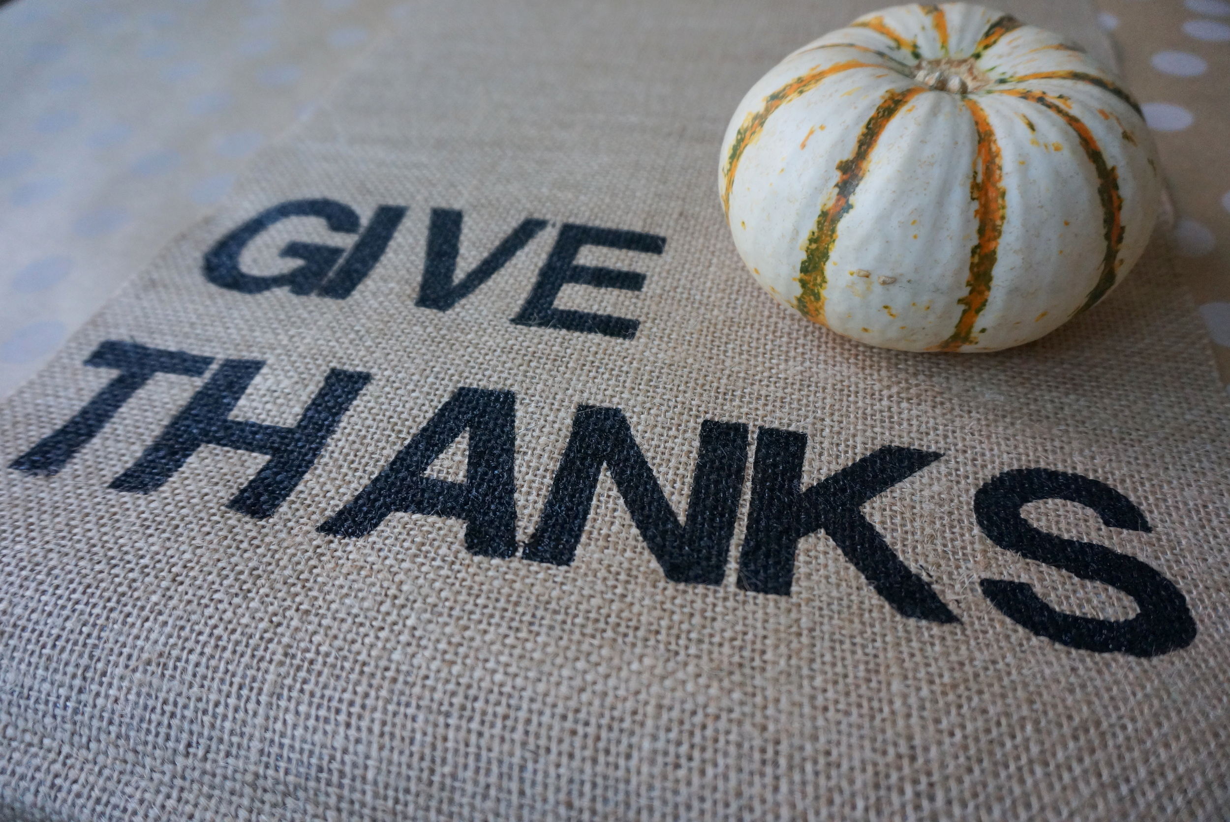 Thanksgiving Burlap