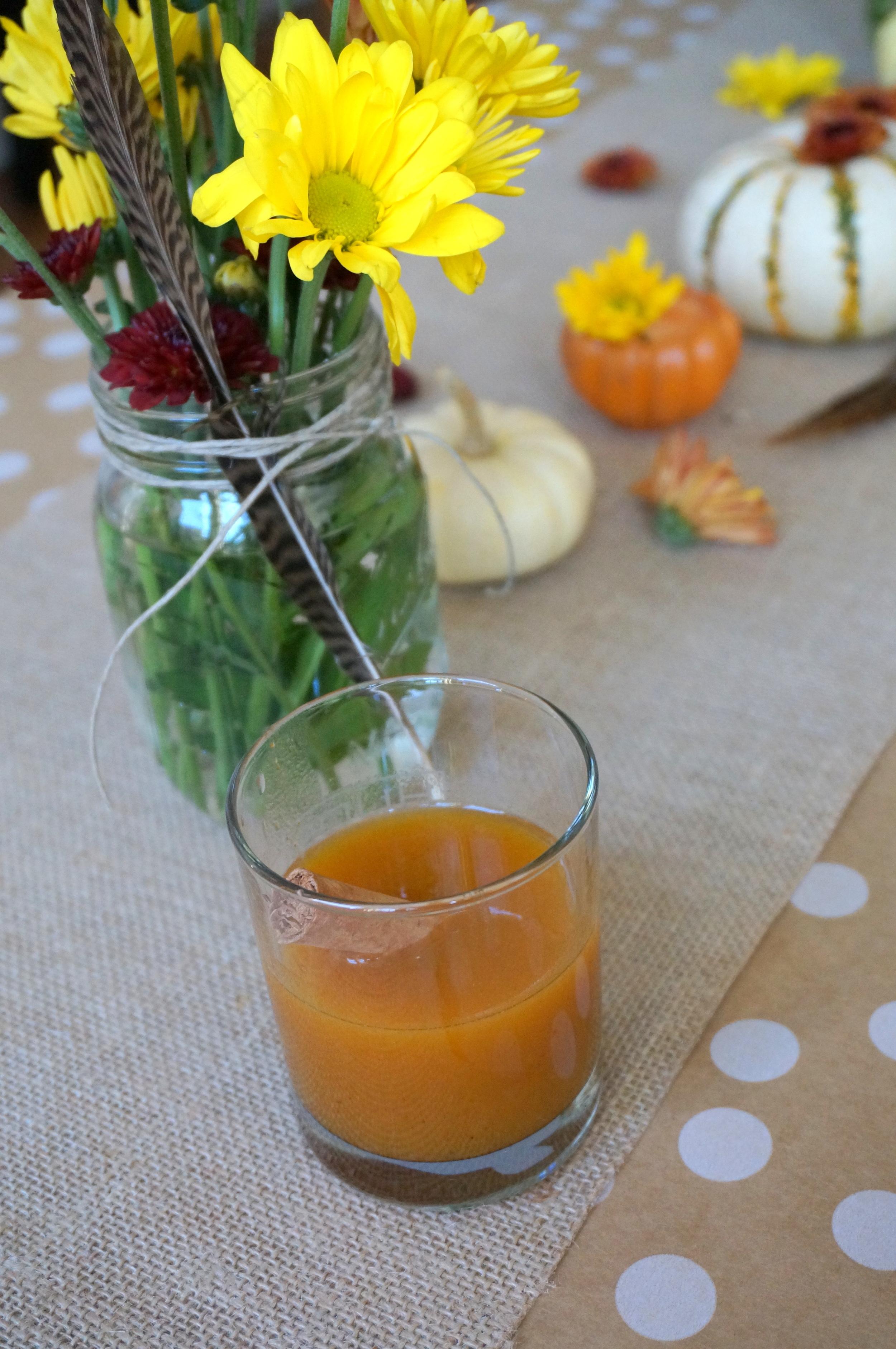 Bourbon Spiked Pumpkin Cocktail