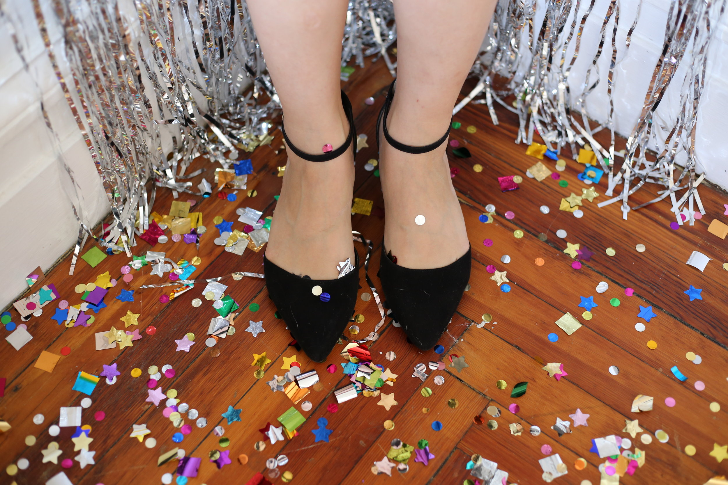 black pointed mary janes
