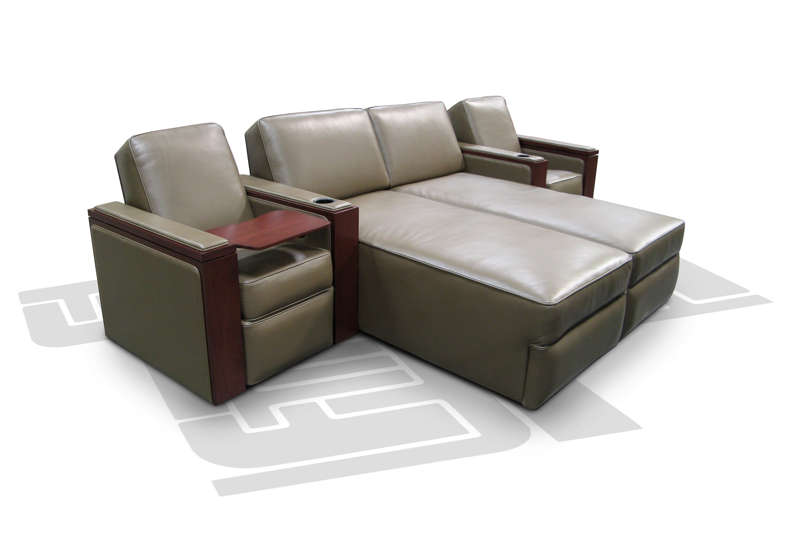 Single-Dual Chaise - Single; Motorized Tray Table; Concealed Cup Holder;