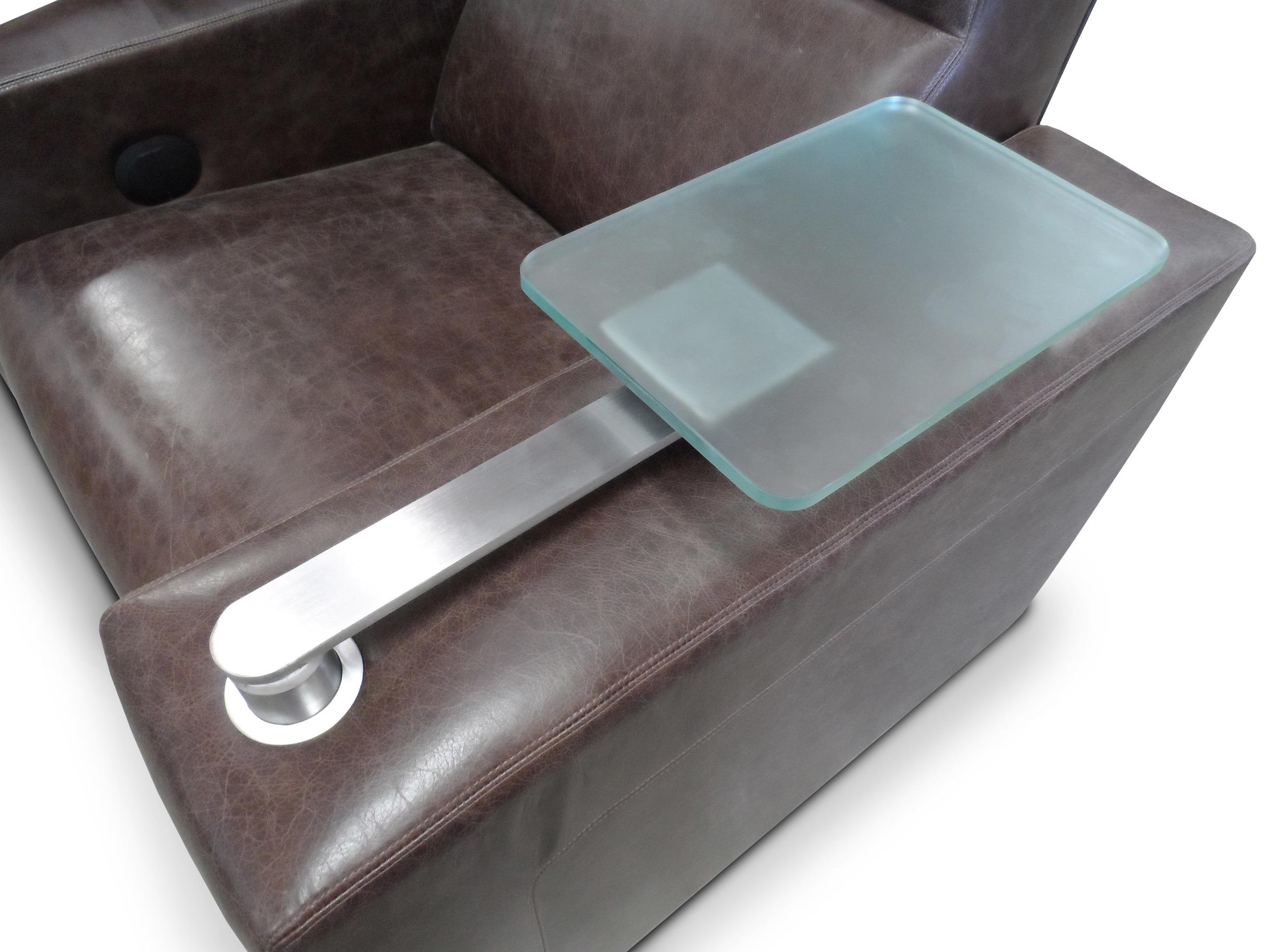 Swivel Glass Tray Table
