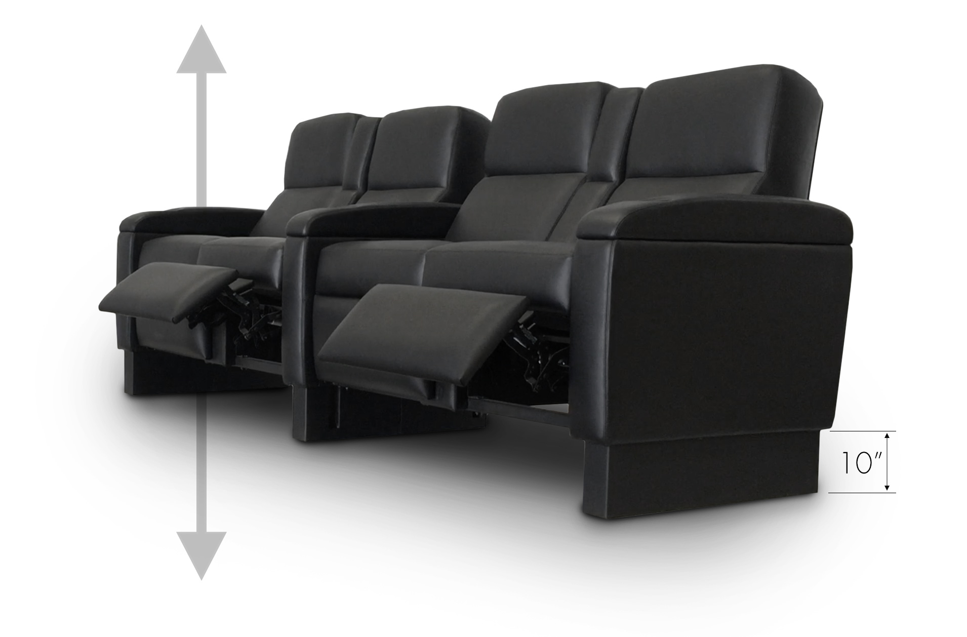 Motorized Adjustable Seat Height Option;Model: Manhattan
