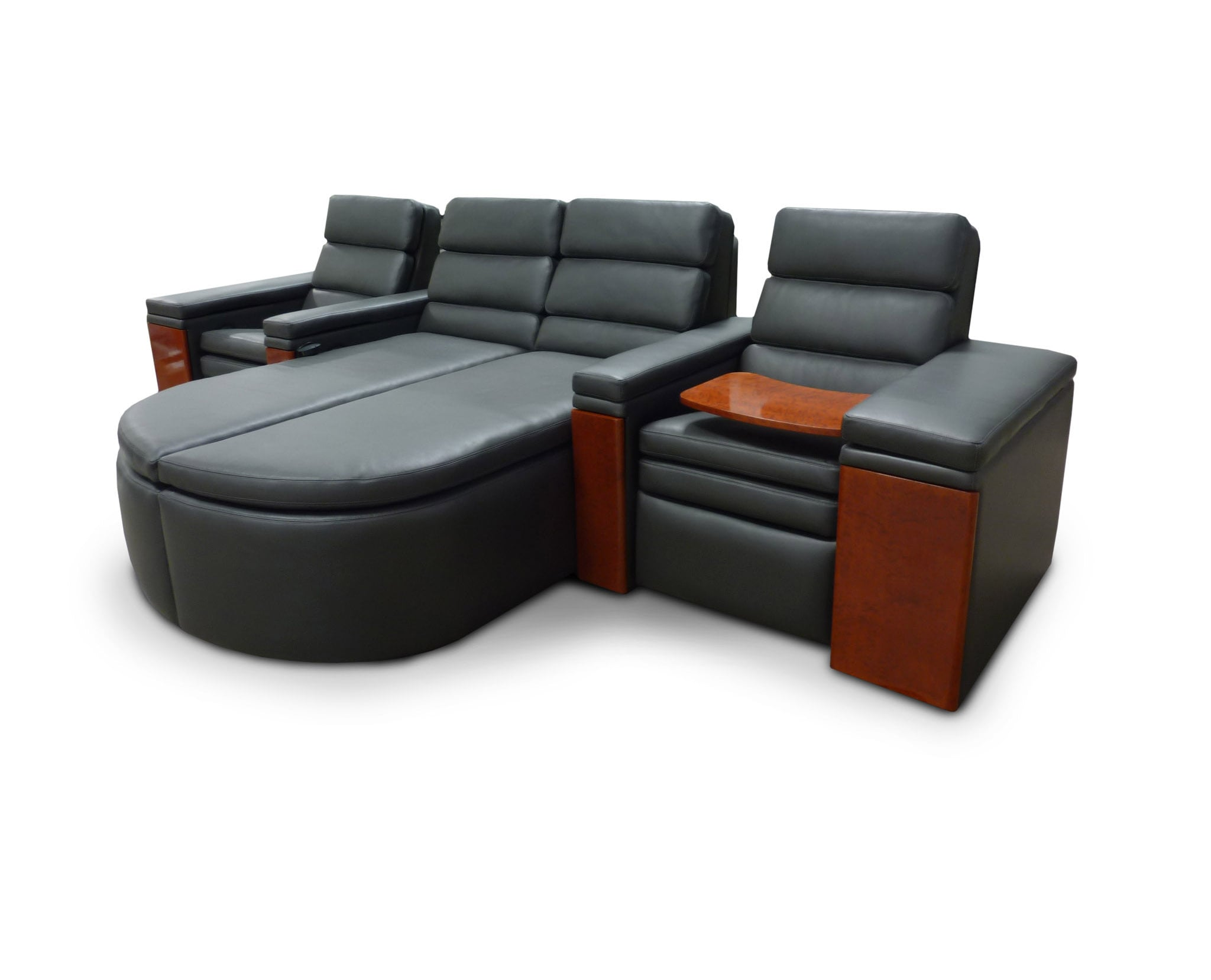 Concealed & Motorized First Class Tray Tables; Model: Solo Single-Dual Lounger-Single