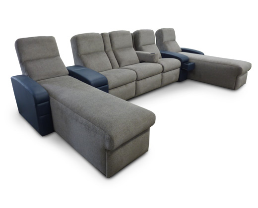 Chaise-Triple Pocket Arm-Chaise; Front Access Cup Holder