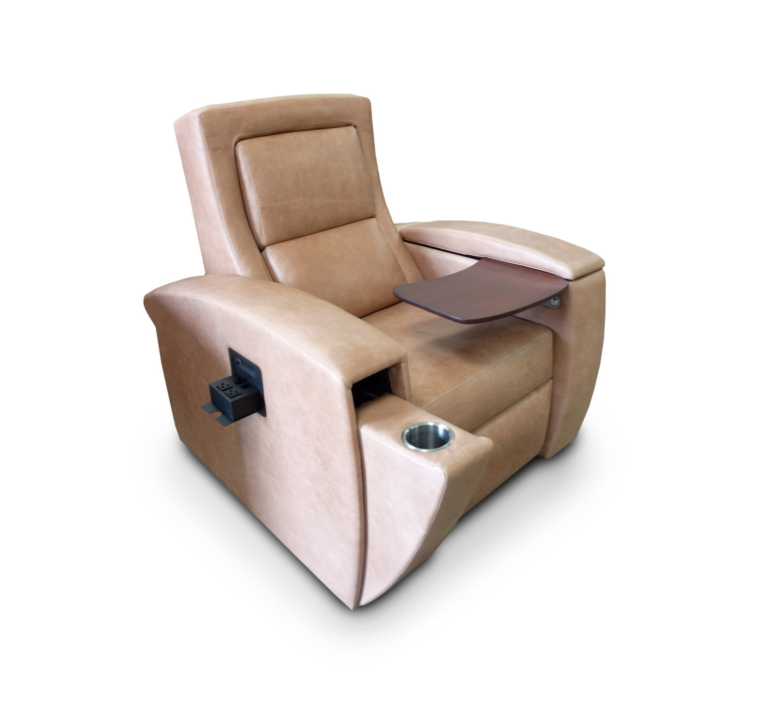 1st Class Motorized Tray Table; Front Access Cup Holder; Data Port; Motorized Lumbar Support