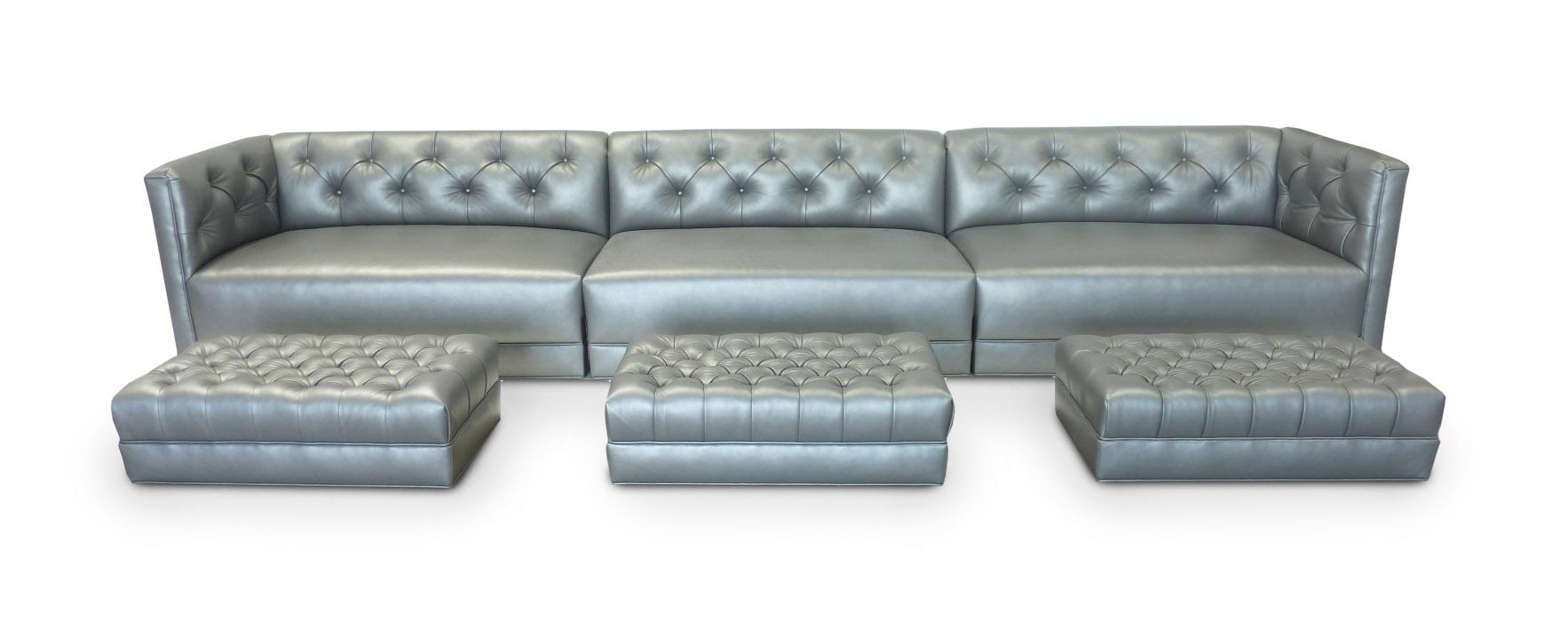 Custom Sofa & Ottomans