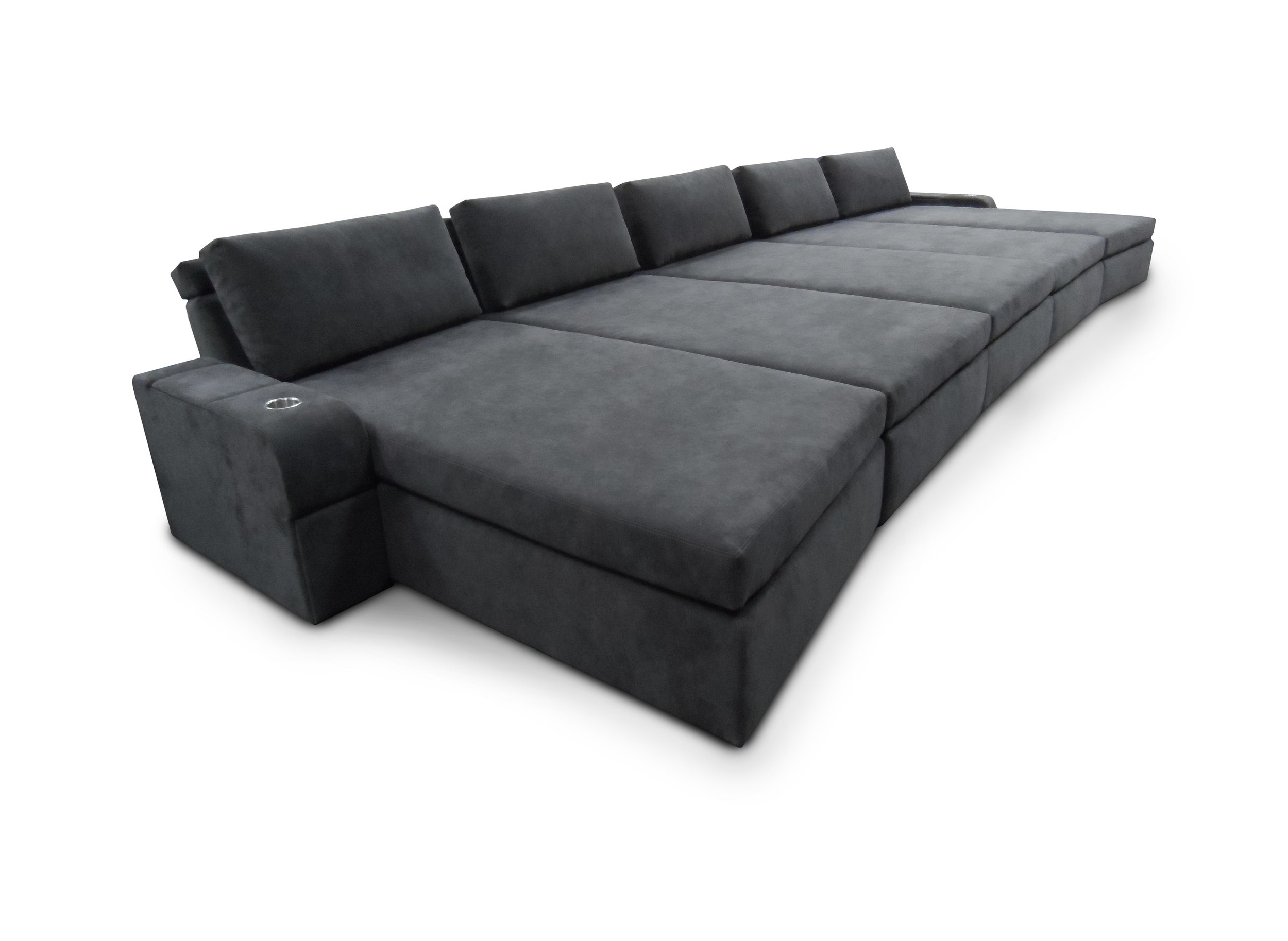 Lounger: Motorized Adjustable Headrest; Loose Back Pillows; Storage Compartments and Drawers in end arms; Reading Lights