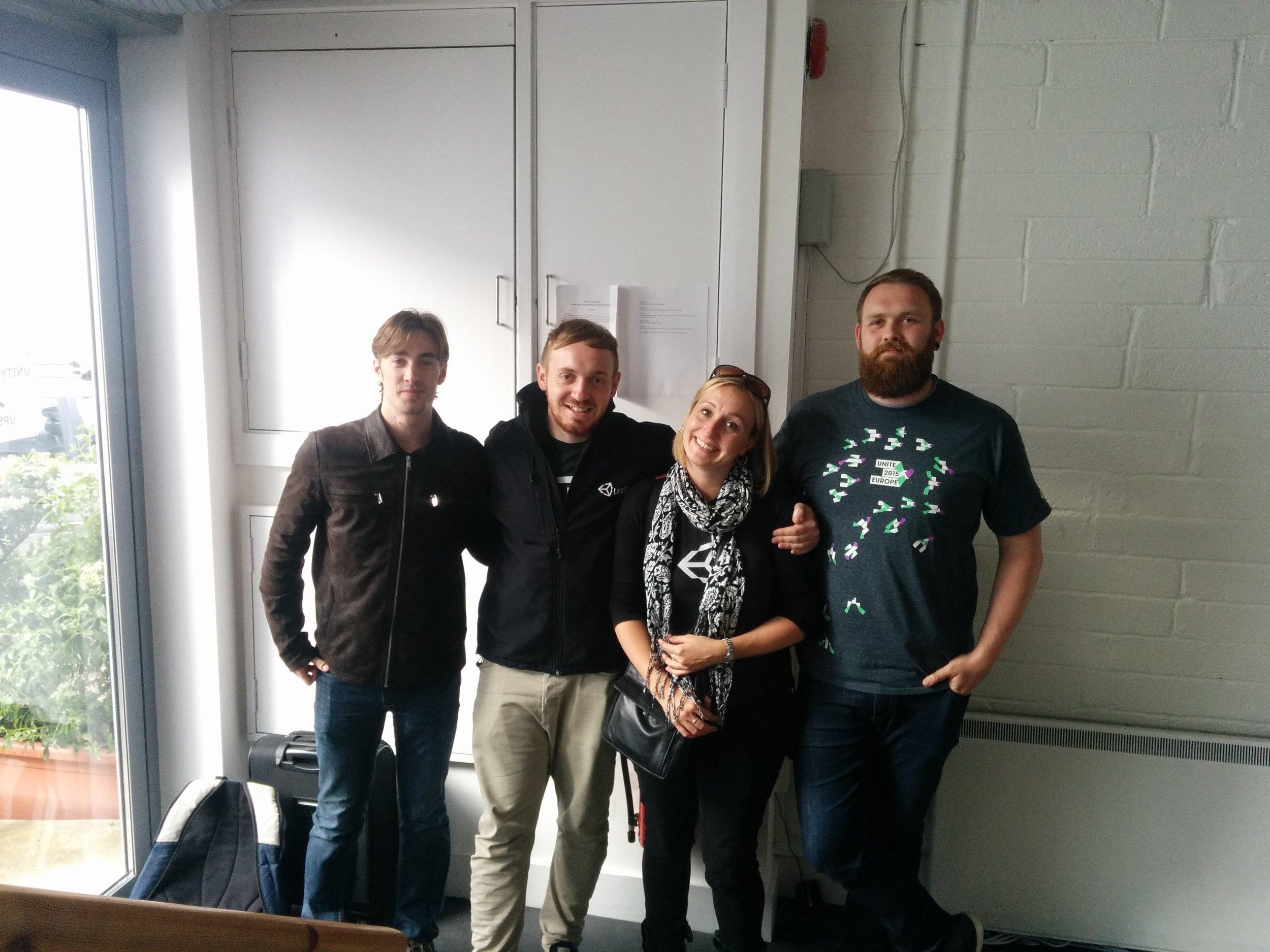 The Unity Team: John, Josh, Cathy & Mo