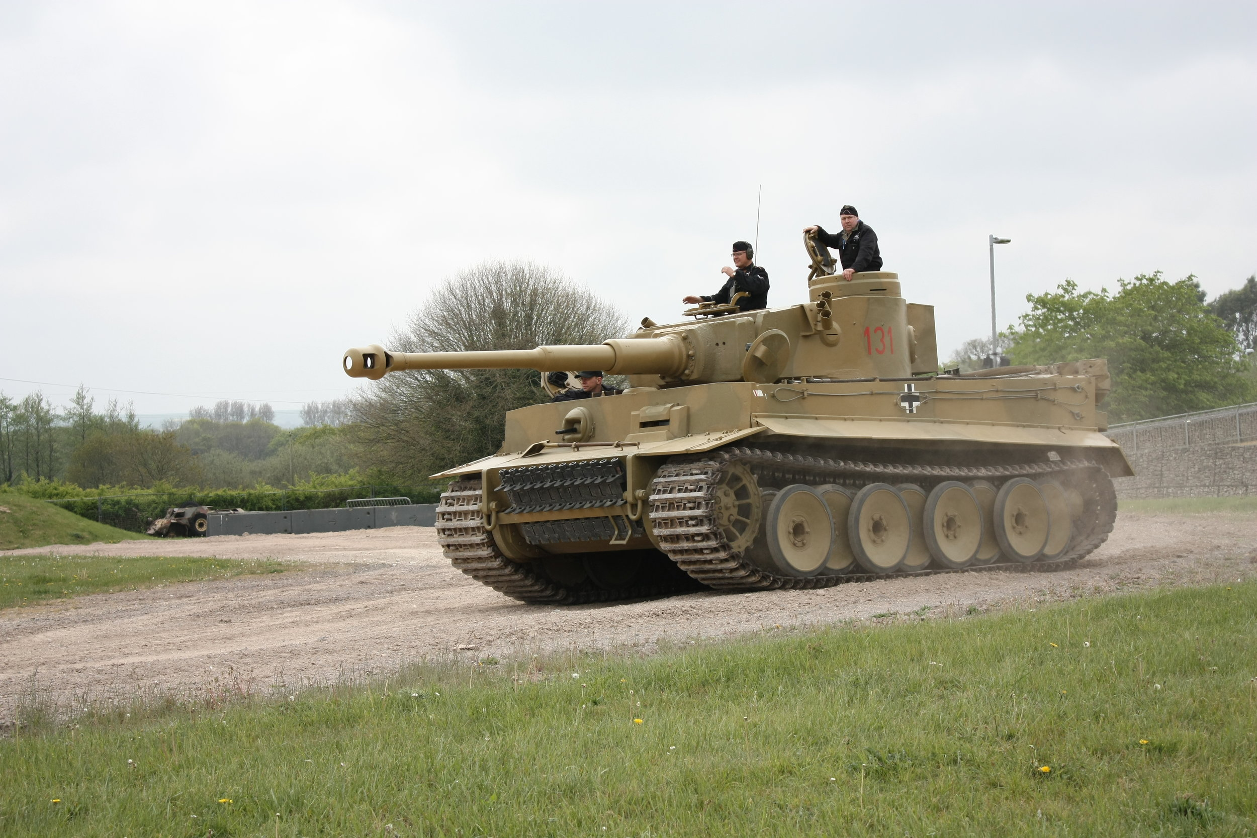 Tiger 131. Captured by the British in WWII and moved back to England in total secrecy. It stars in the movie  Fury . No, really.